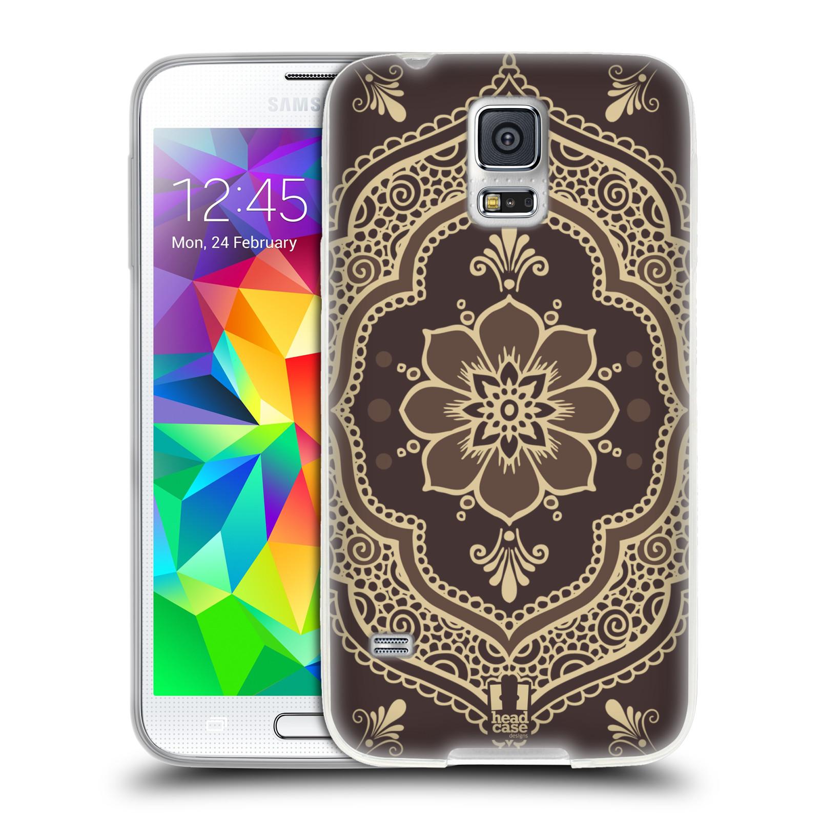 HEAD CASE silikonový obal na mobil Samsung Galaxy S5/S5 NEO vzor Hena tetování MANDALA
