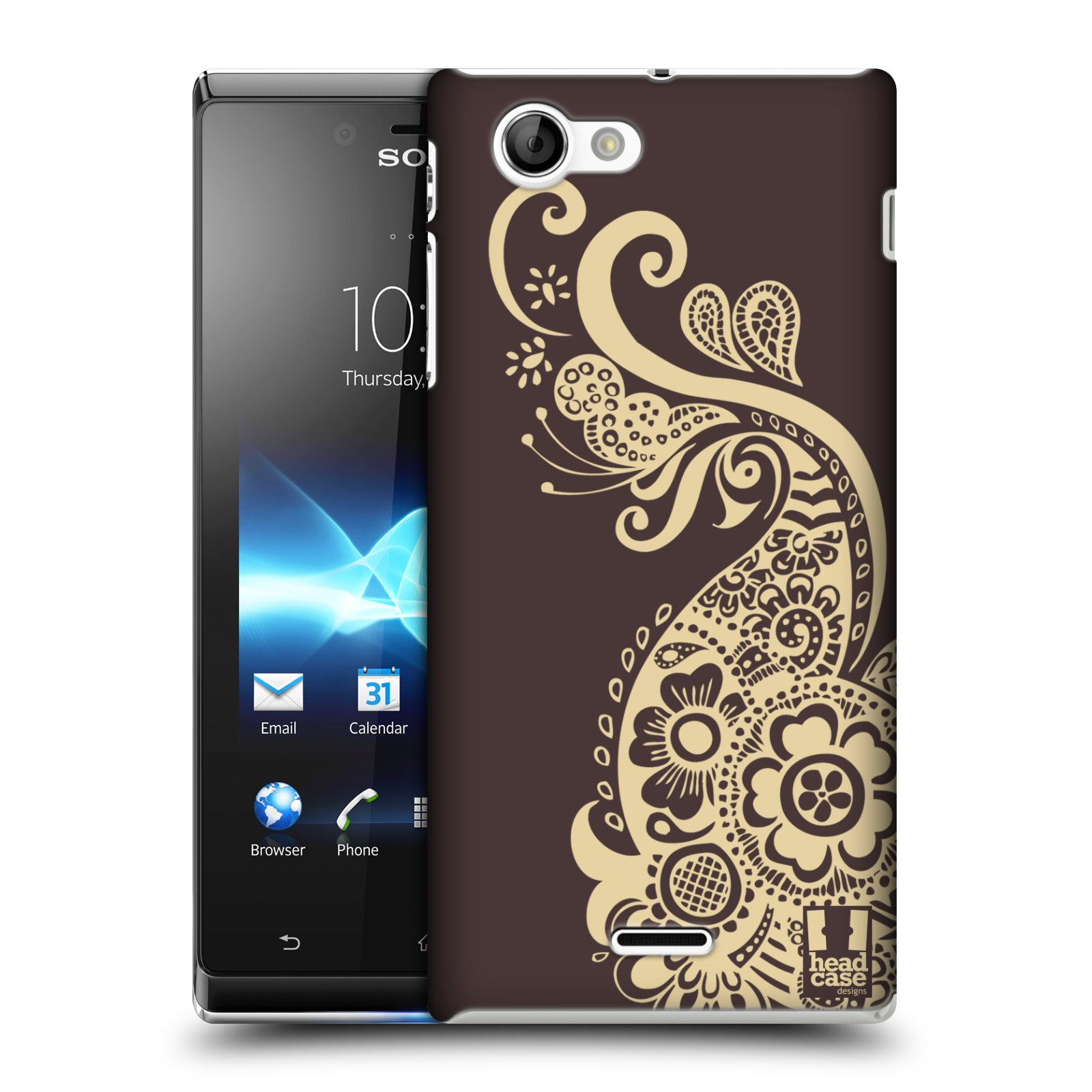 HEAD CASE DESIGNS HENNA CASE COVER FOR SONY XPERIA J ST26i