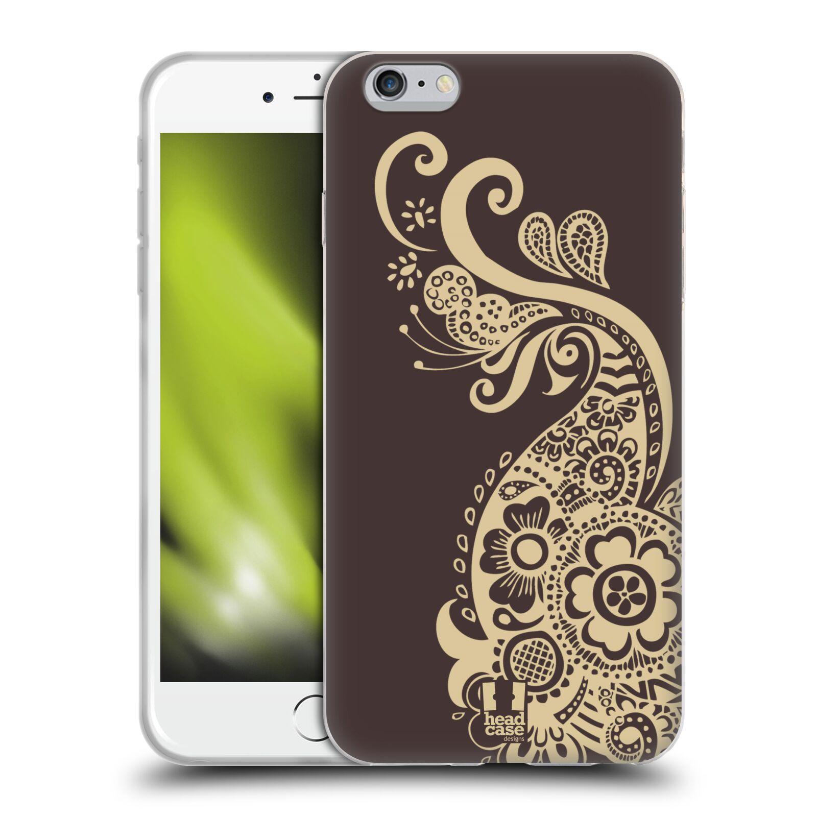 HEAD CASE silikonový obal na mobil Apple Iphone 6 PLUS/ 6S PLUS vzor Hena tetování PÁV