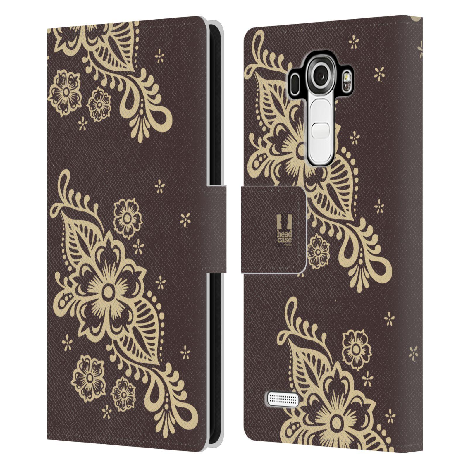 HEAD CASE Flipové pouzdro pro mobil LG G4 (H815) Hena kresba víno