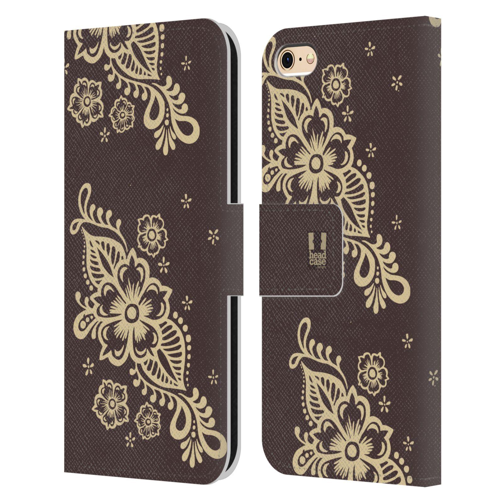 HEAD CASE Flipové pouzdro pro mobil Apple Iphone 6/6s Hena kresba víno