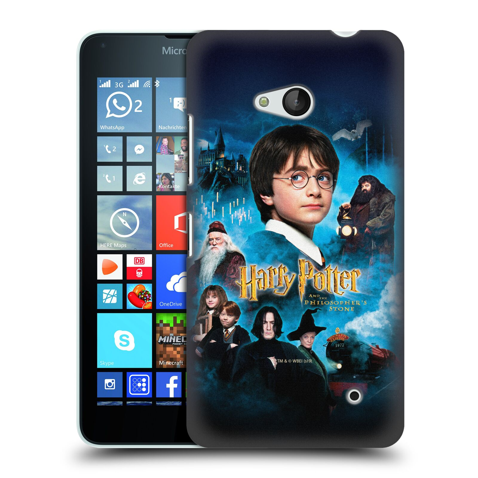 Pouzdro na mobil Microsoft Lumia 640 / 640 DUAL SIM - HEAD CASE - Harry Potter a přátelé
