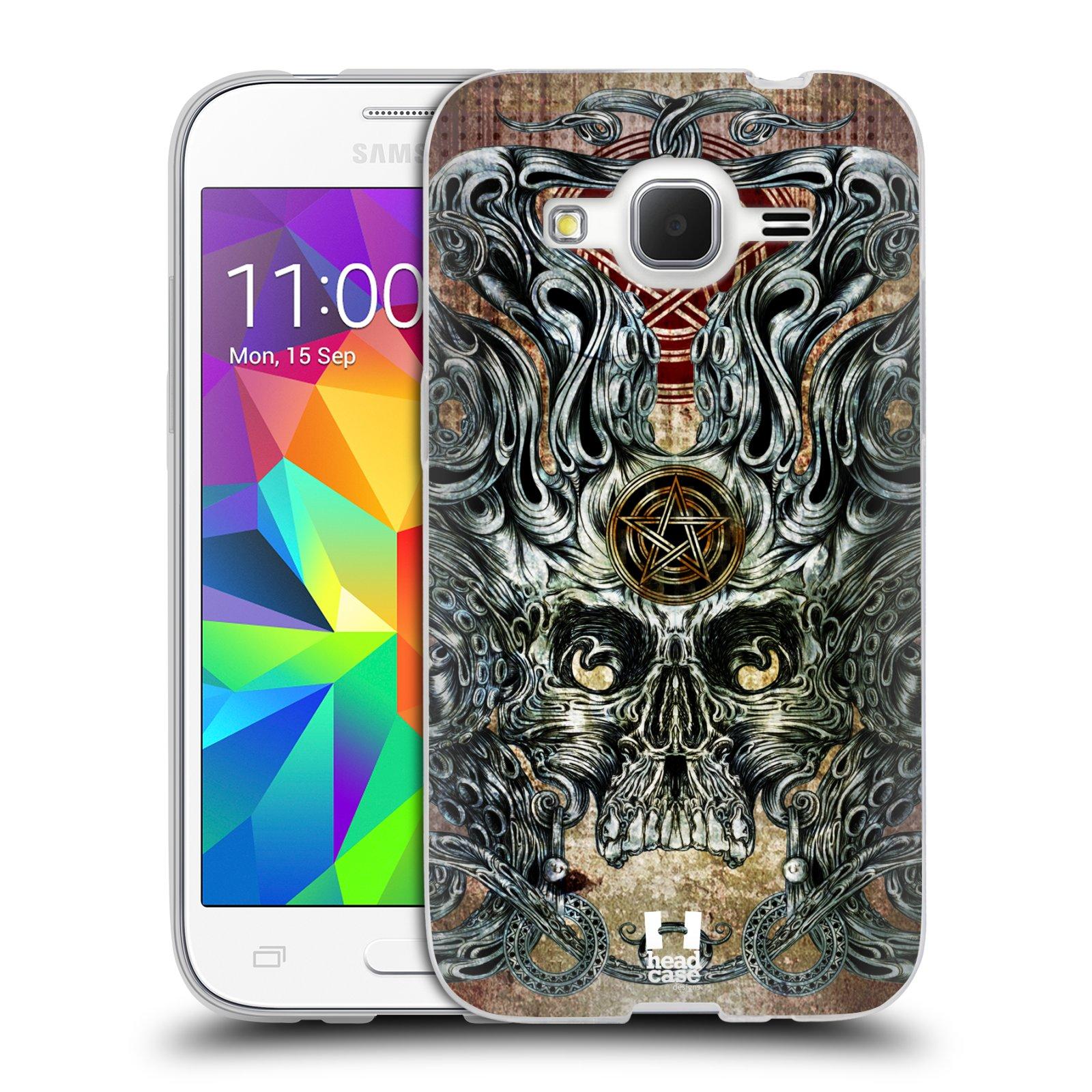 HEAD CASE silikonový obal na mobil Samsung Galaxy Core Prime (G360) vzor Kreslené lebky METAL chobotnice