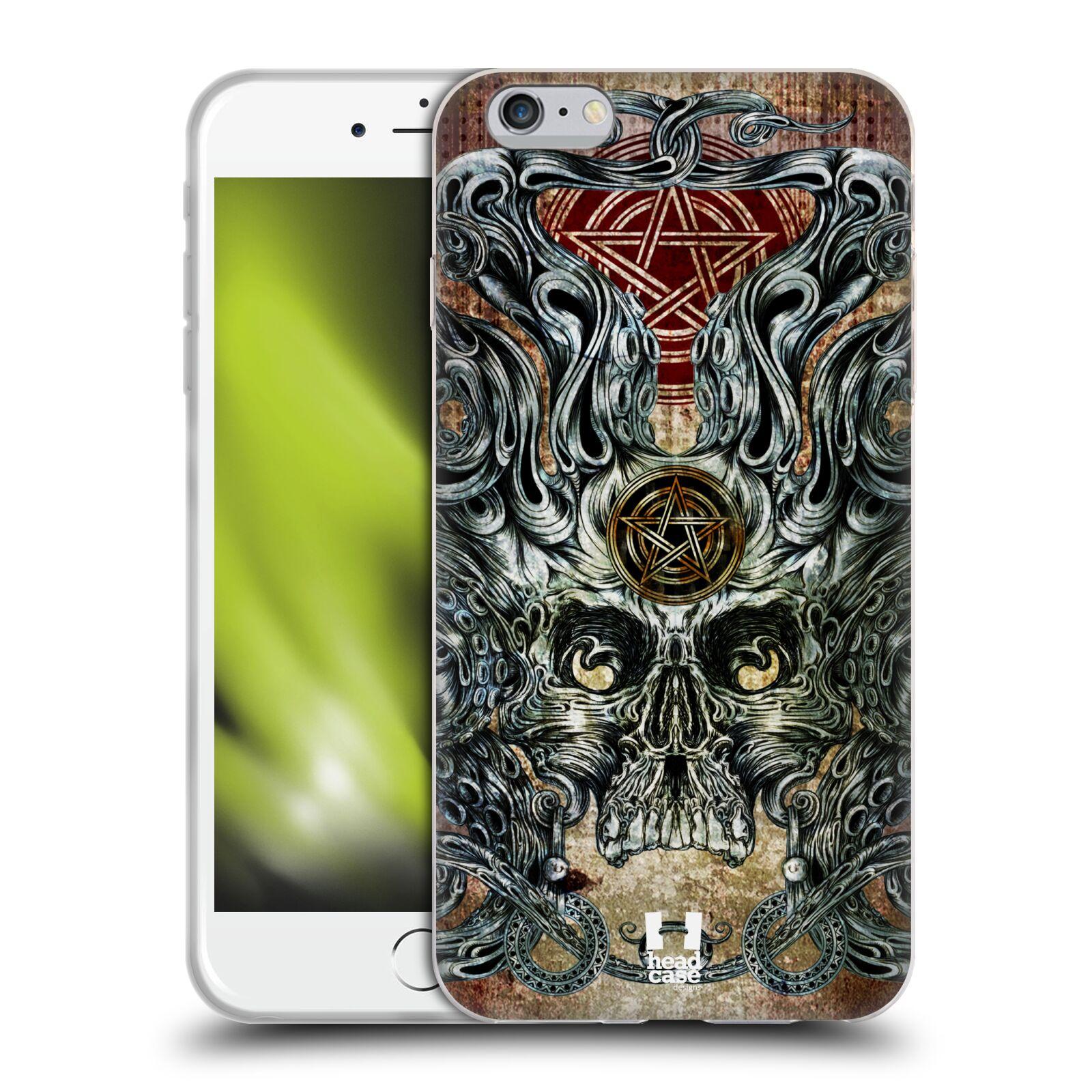 HEAD CASE silikonový obal na mobil Apple Iphone 6 PLUS/ 6S PLUS vzor Kreslené lebky METAL chobotnice