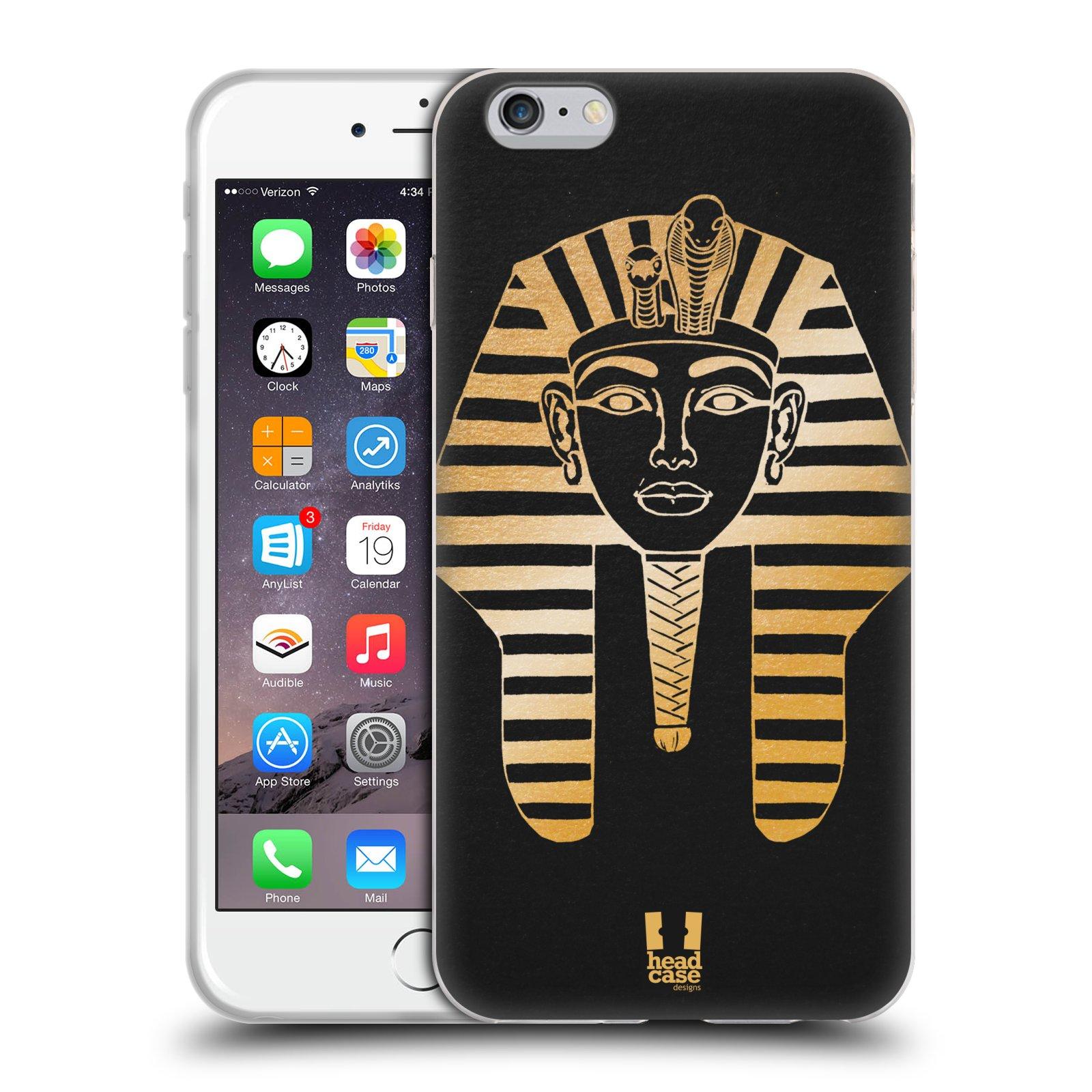 HEAD CASE silikonový obal na mobil Apple Iphone 6 PLUS/ 6S PLUS vzor EGYPT zlatá a černá FARAÓN