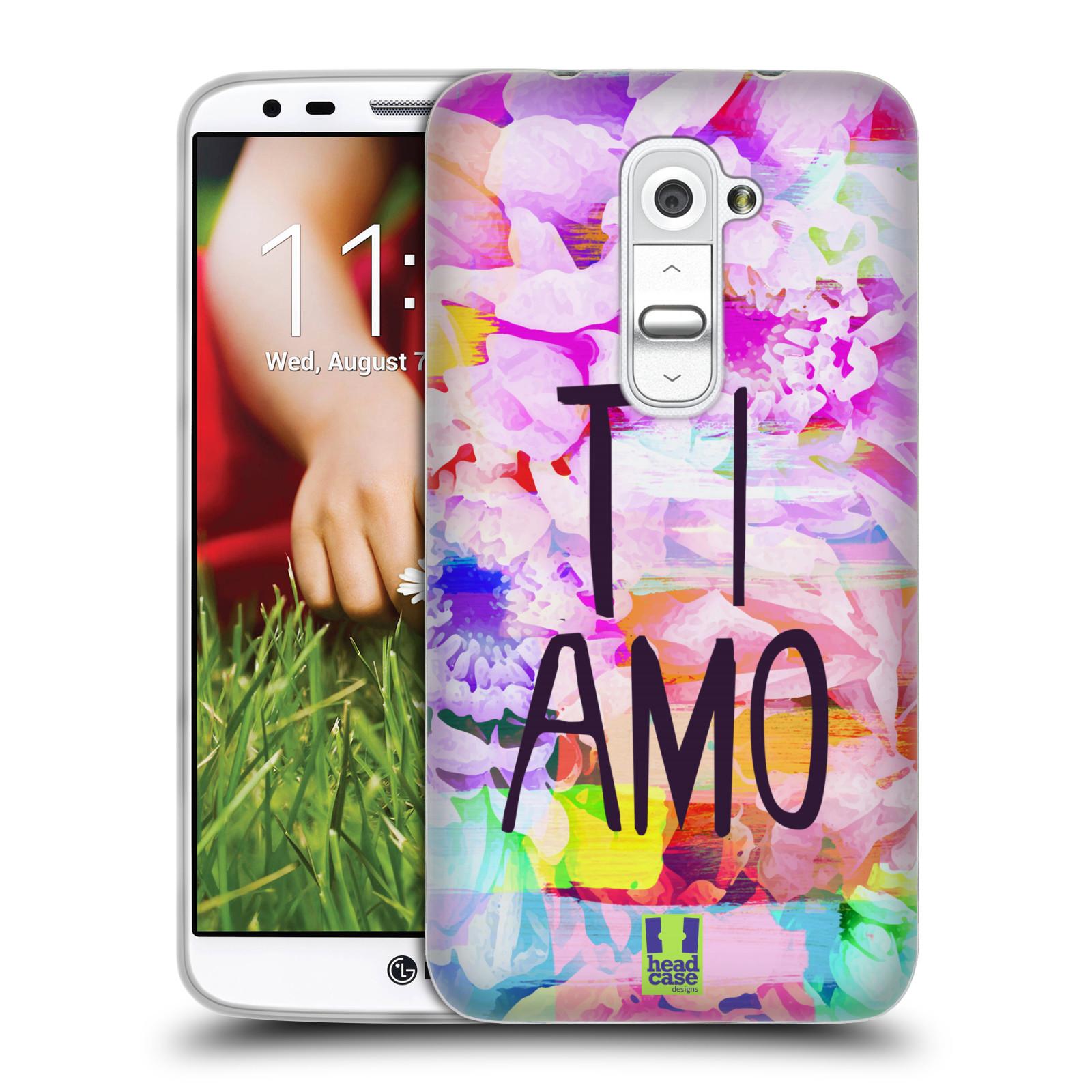 HEAD CASE silikonový obal na mobil LG G2 (D802) Láska a květy Ti Amo ... 8d2191aa36d