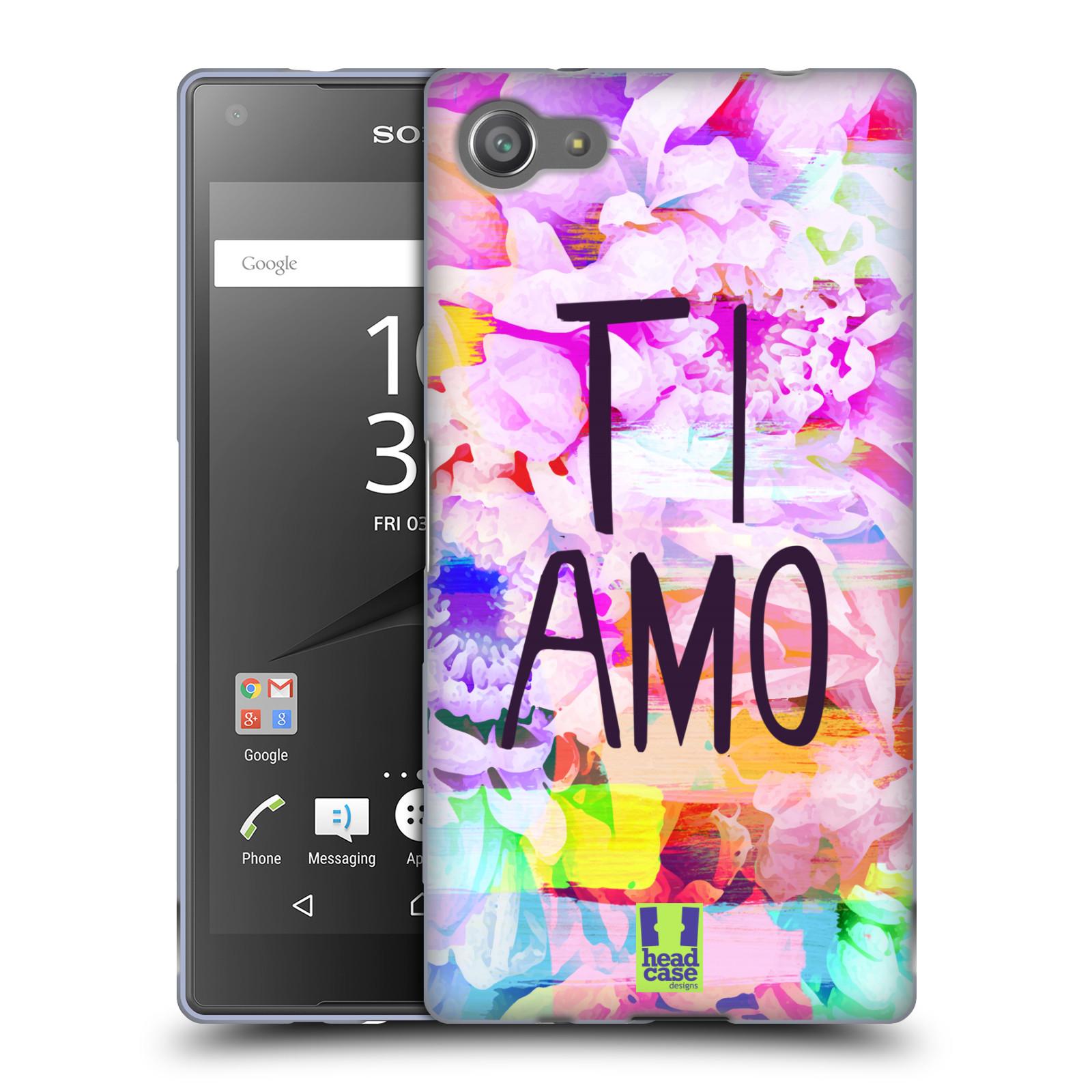 HEAD CASE silikonový obal na mobil Sony Xperia Z5 COMPACT Láska a květy Ti Amo