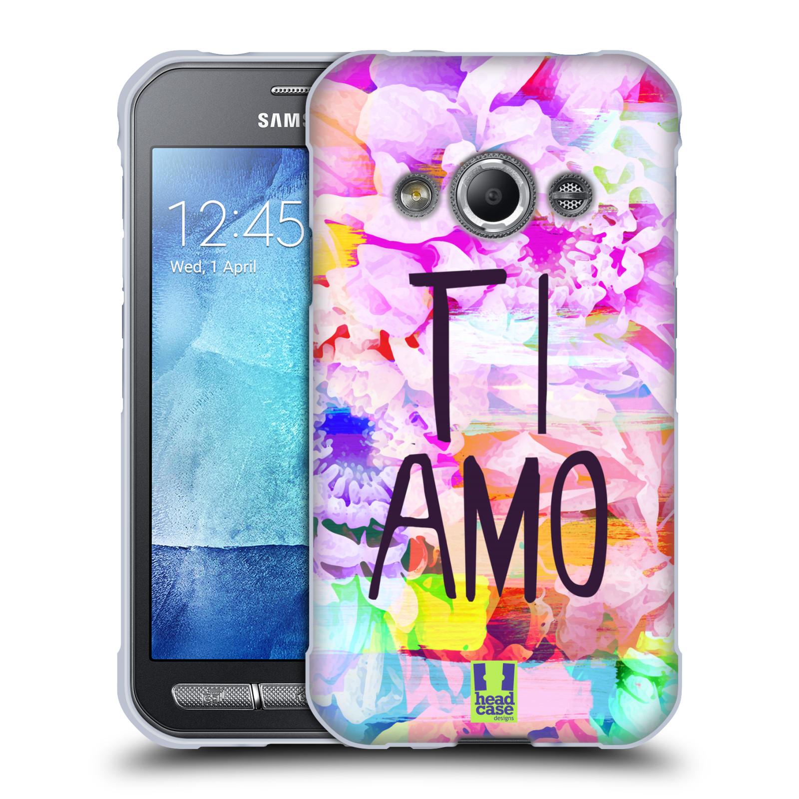 HEAD CASE silikonový obal na mobil Samsung Galaxy Xcover 3  Láska a květy Ti Amo
