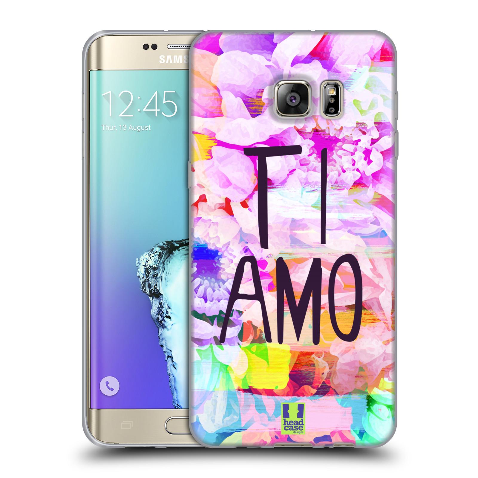 HEAD CASE silikonový obal na mobil Samsung Galaxy S6 EDGE PLUS (G928F)  Láska a květy Ti Amo e138c3ec3c4