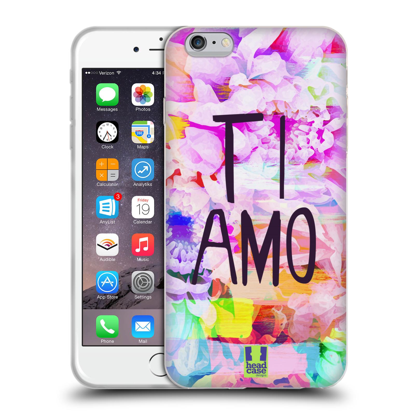 HEAD CASE silikonový obal na mobil Apple Iphone 6 PLUS / 6S PLUS Láska a květy Ti Amo