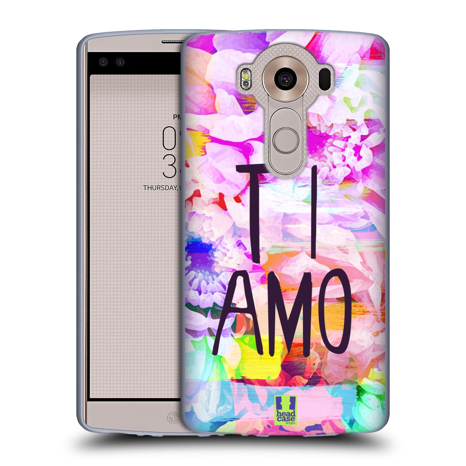 HEAD CASE silikonový obal na mobil LG V10 Láska a květy Ti Amo ... 23daf1d0d51