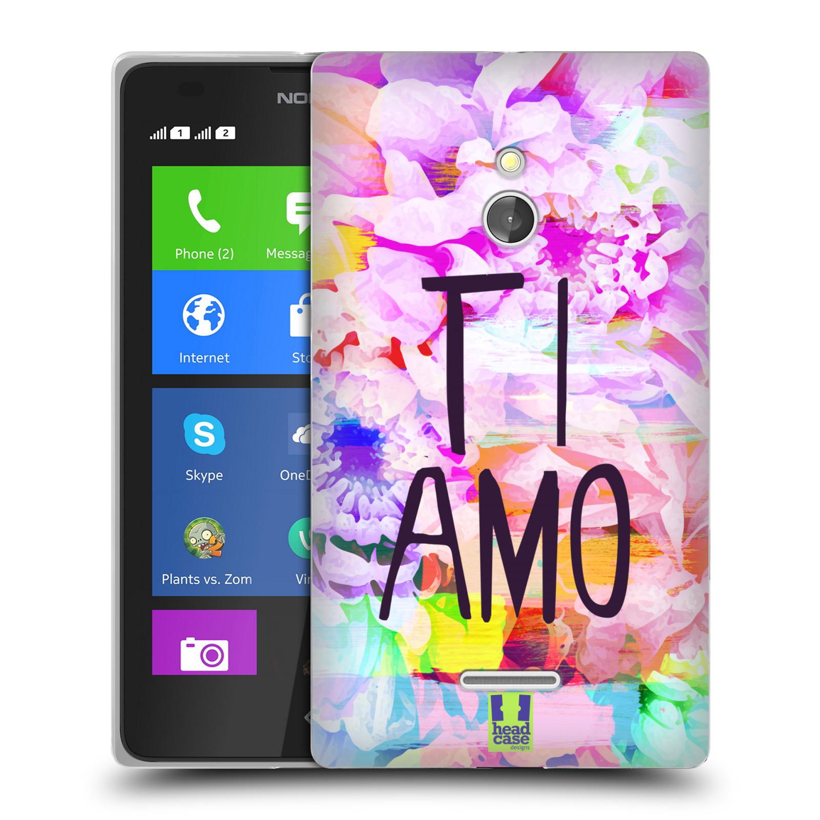 HEAD CASE silikonový obal na mobil Nokia XL / Nokia XL DUAL SIM Láska a květy Ti Amo