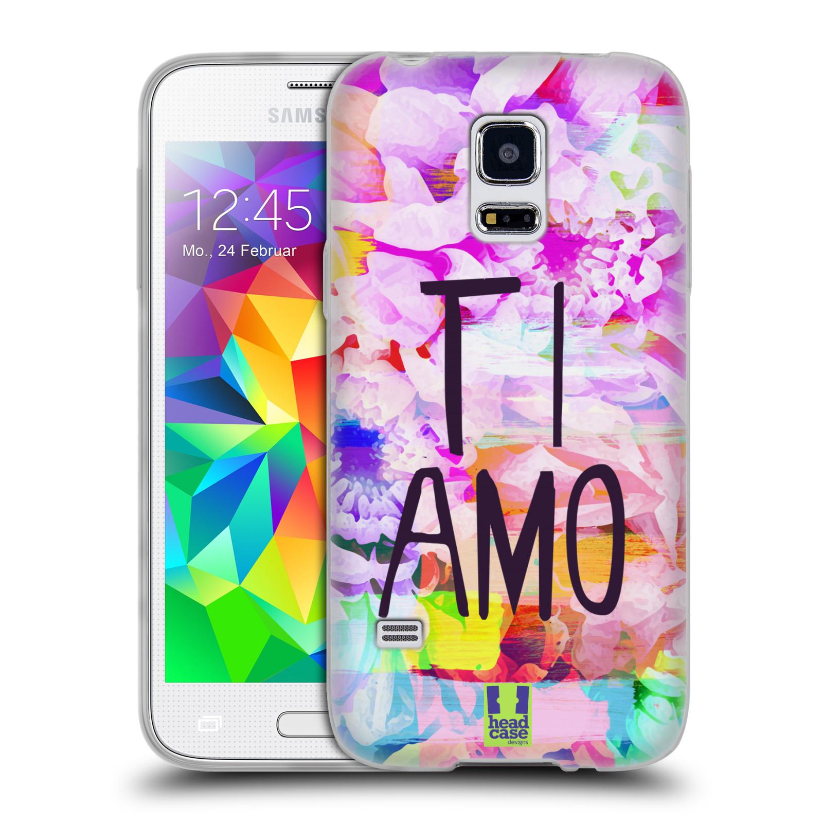 HEAD CASE silikonový obal na mobil Samsung Galaxy S5 MINI   S5 MINI DUOS  Láska a květy Ti Amo 120c5539bda