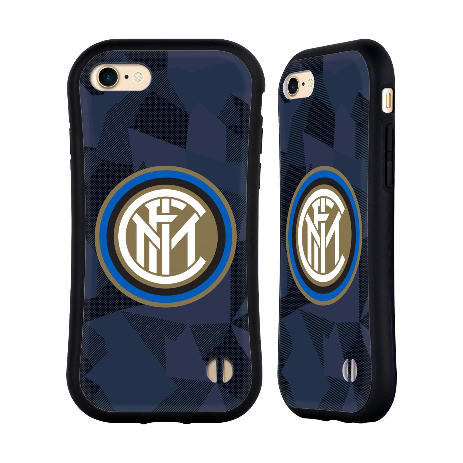 HEAD CASE odolný obal na mobil Apple Iphone 8 Fotbalový klub Inter Milán dres znak modrá barva vzorkované pozadí