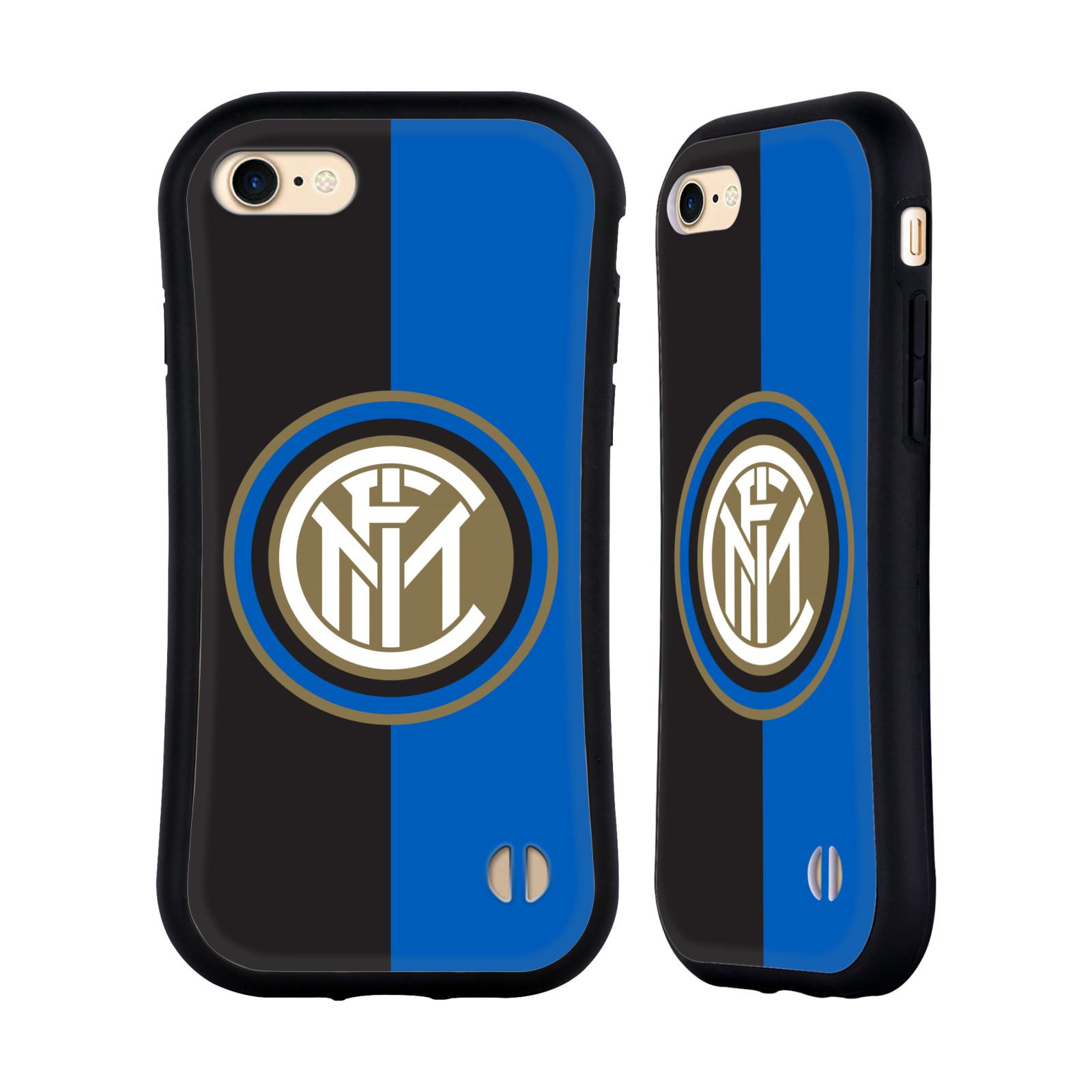 HEAD CASE odolný obal na mobil Apple Iphone 8 Fotbalový klub Inter Milán dres černá a modrá