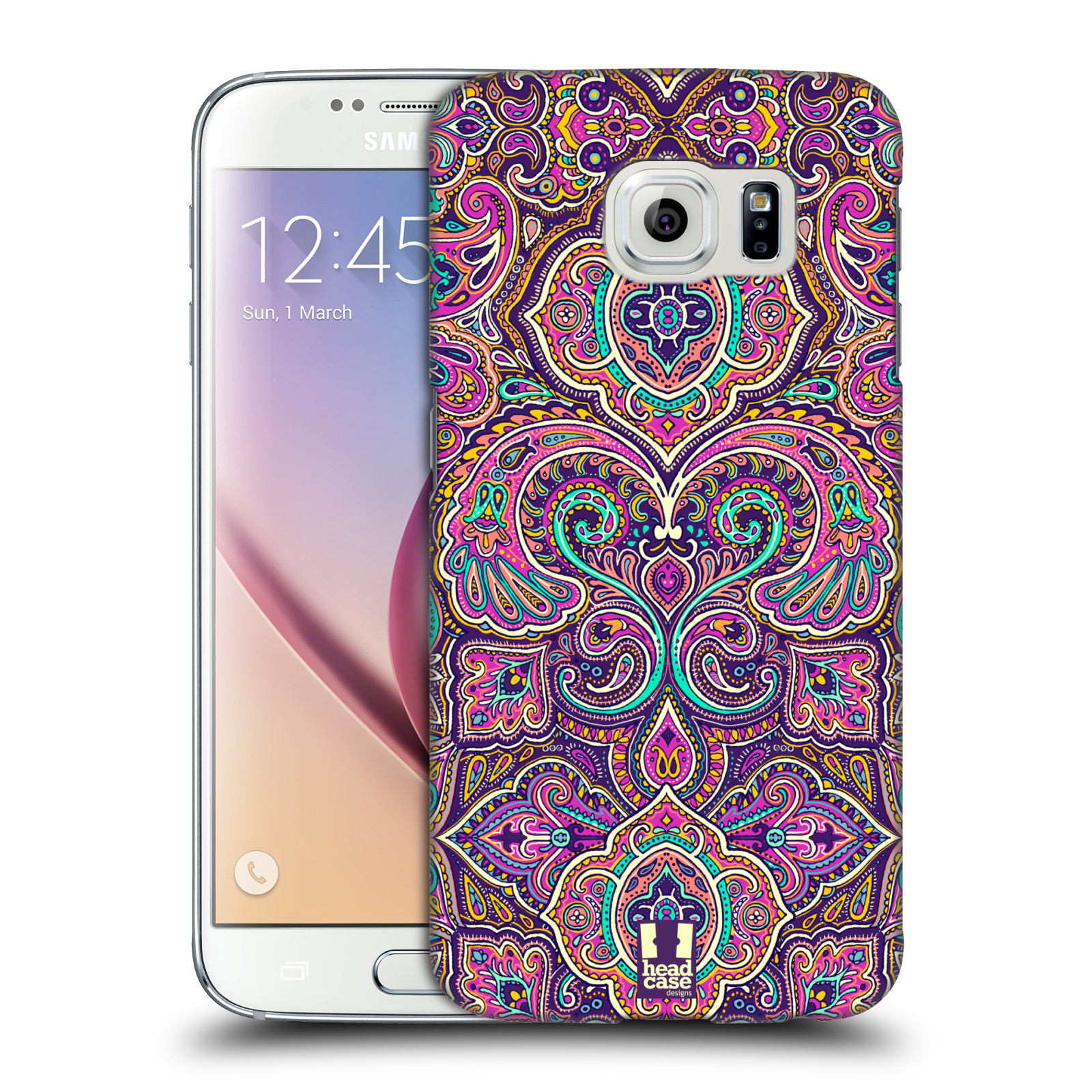 Head case designs intricate paisley hard back case for for Cell phone cover design ideas
