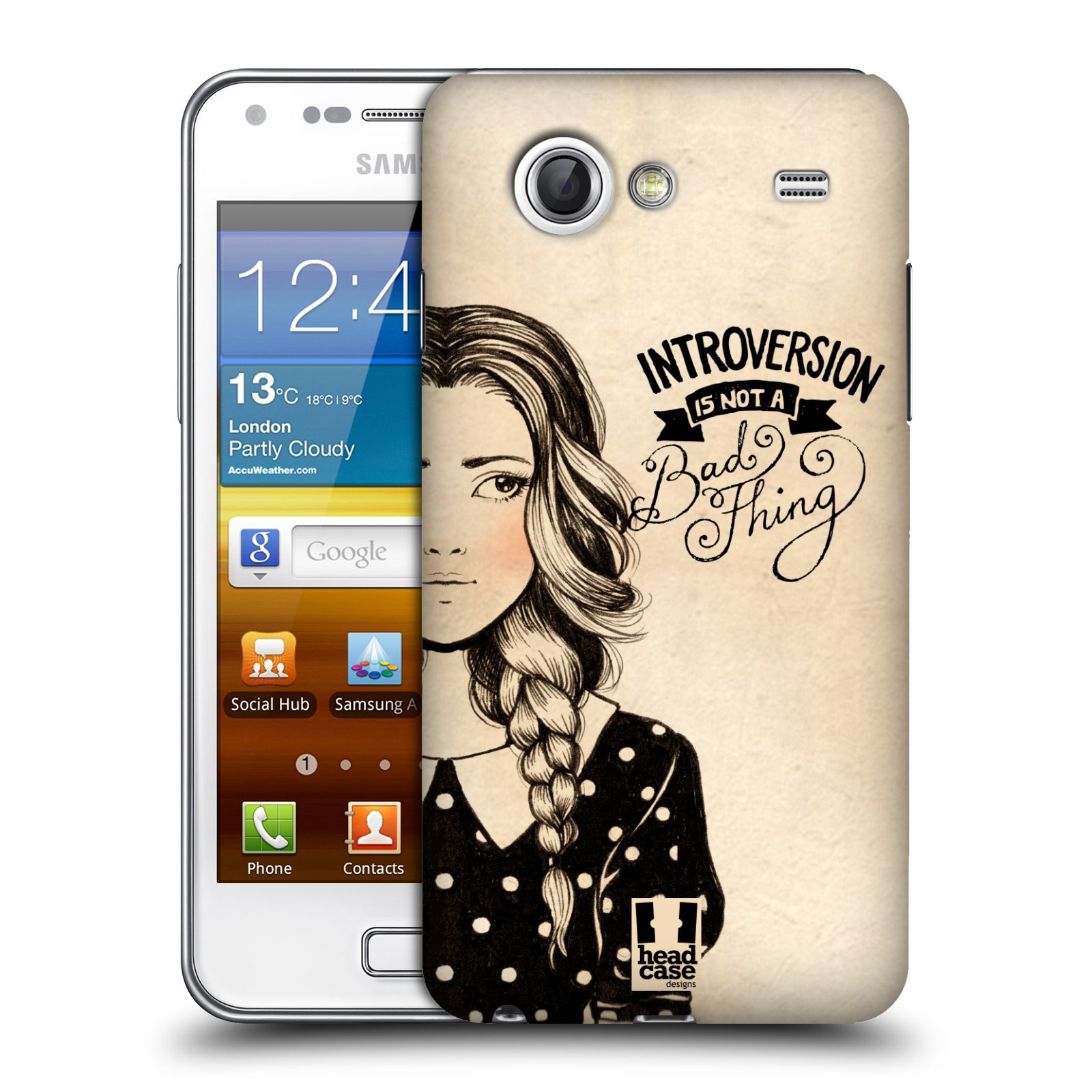 HEAD CASE DESIGNS INTROSPECTION CASE COVER FOR SAMSUNG GALAXY S ADVANCE I9070