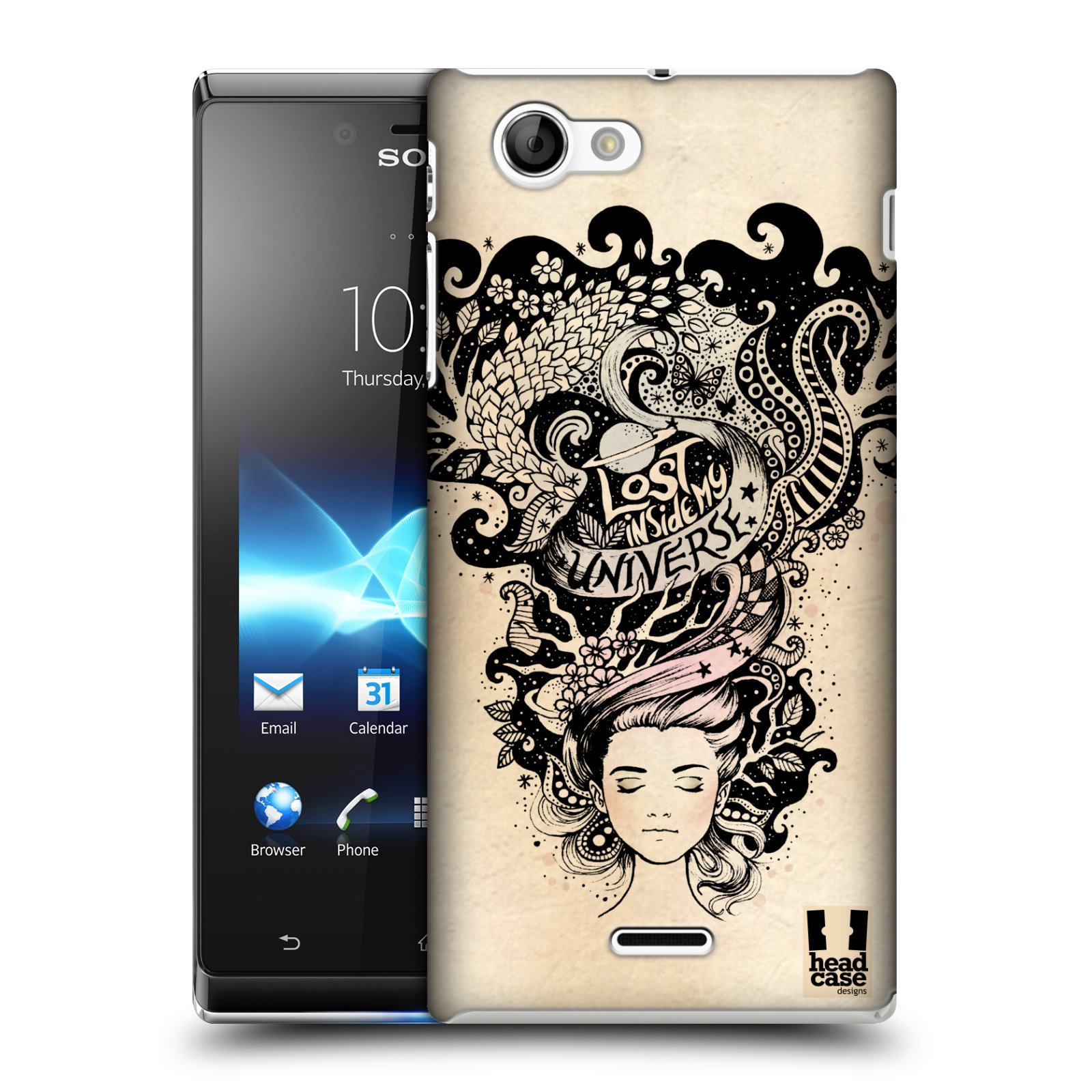 HEAD CASE DESIGNS INTROSPECTION CASE COVER FOR SONY XPERIA J ST26i