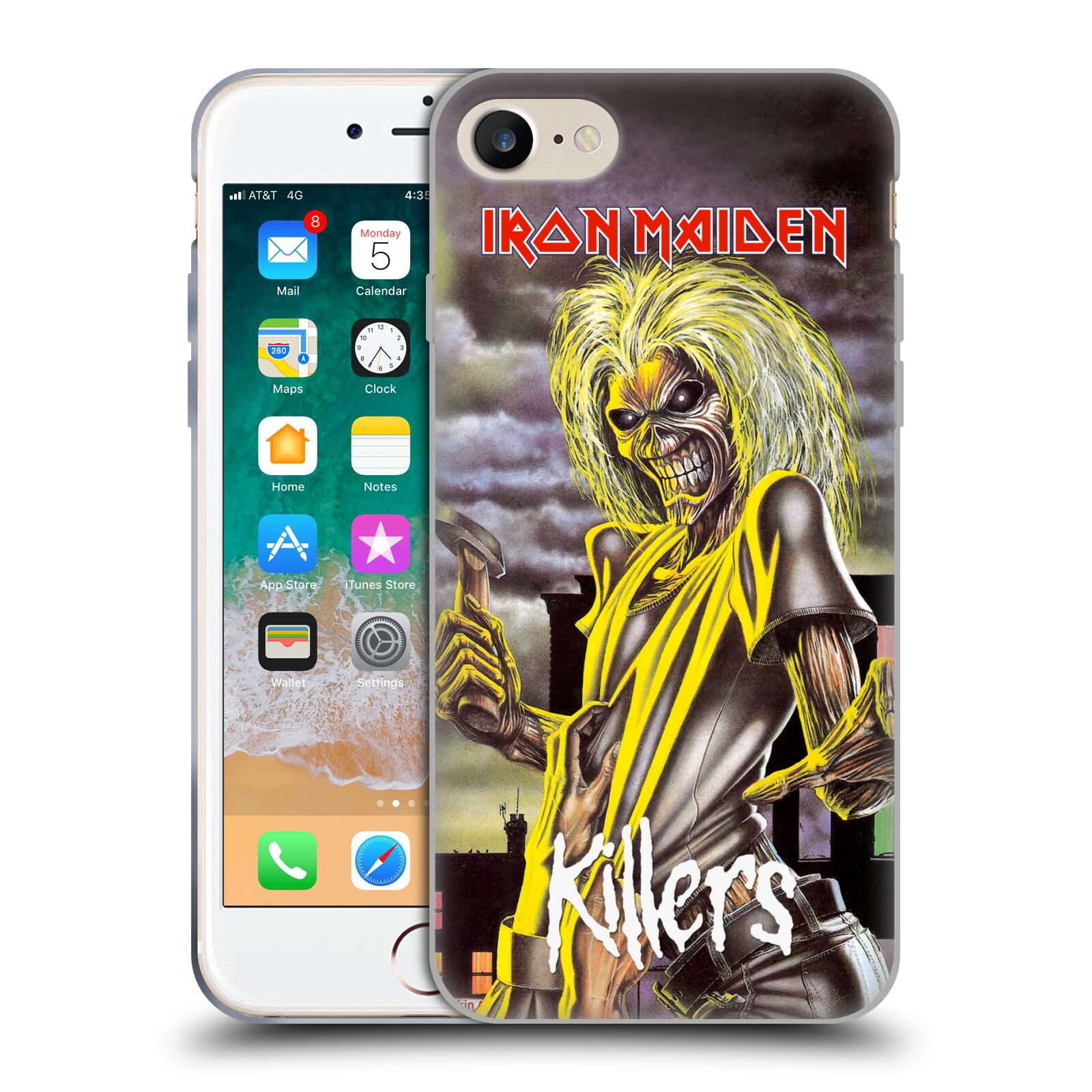 HEAD CASE silikonový obal na mobil Apple Iphone 8 Heavymetalová skupina Iron Maiden Killers