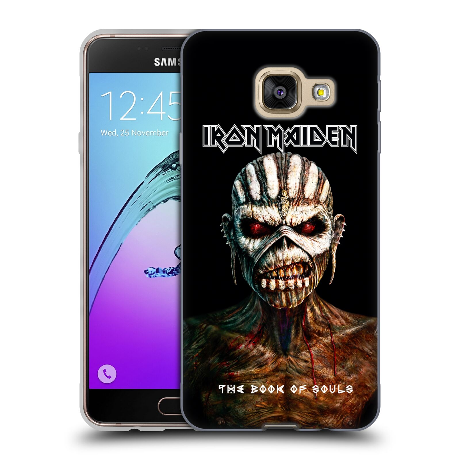 HEAD CASE silikonový obal na mobil Samsung Galaxy A3 2016 (A310) Heavymetalová skupina Iron Maiden The Book Of Souls