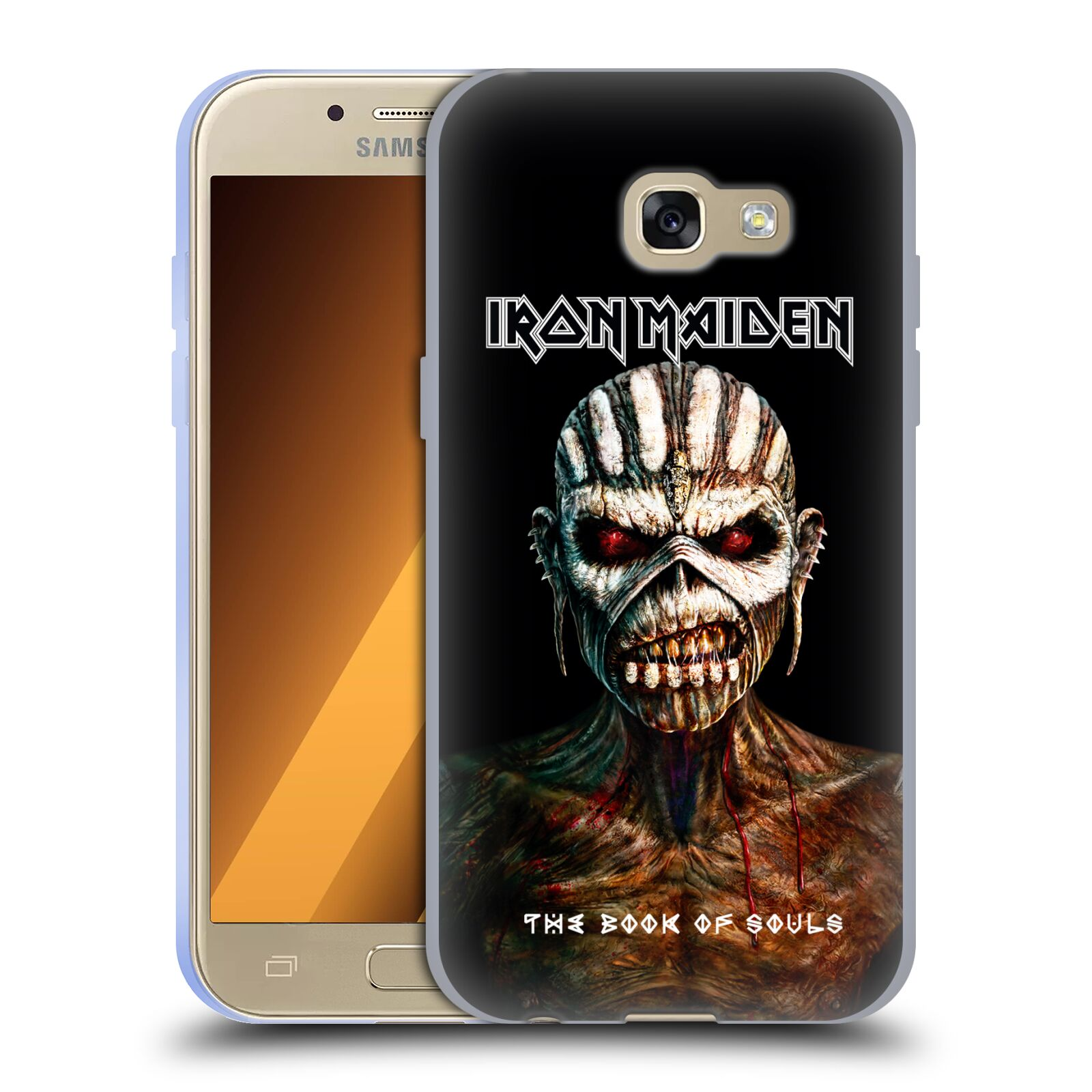 HEAD CASE silikonový obal na mobil Samsung Galaxy A3 2017 (A320) Heavymetalová skupina Iron Maiden The Book Of Souls