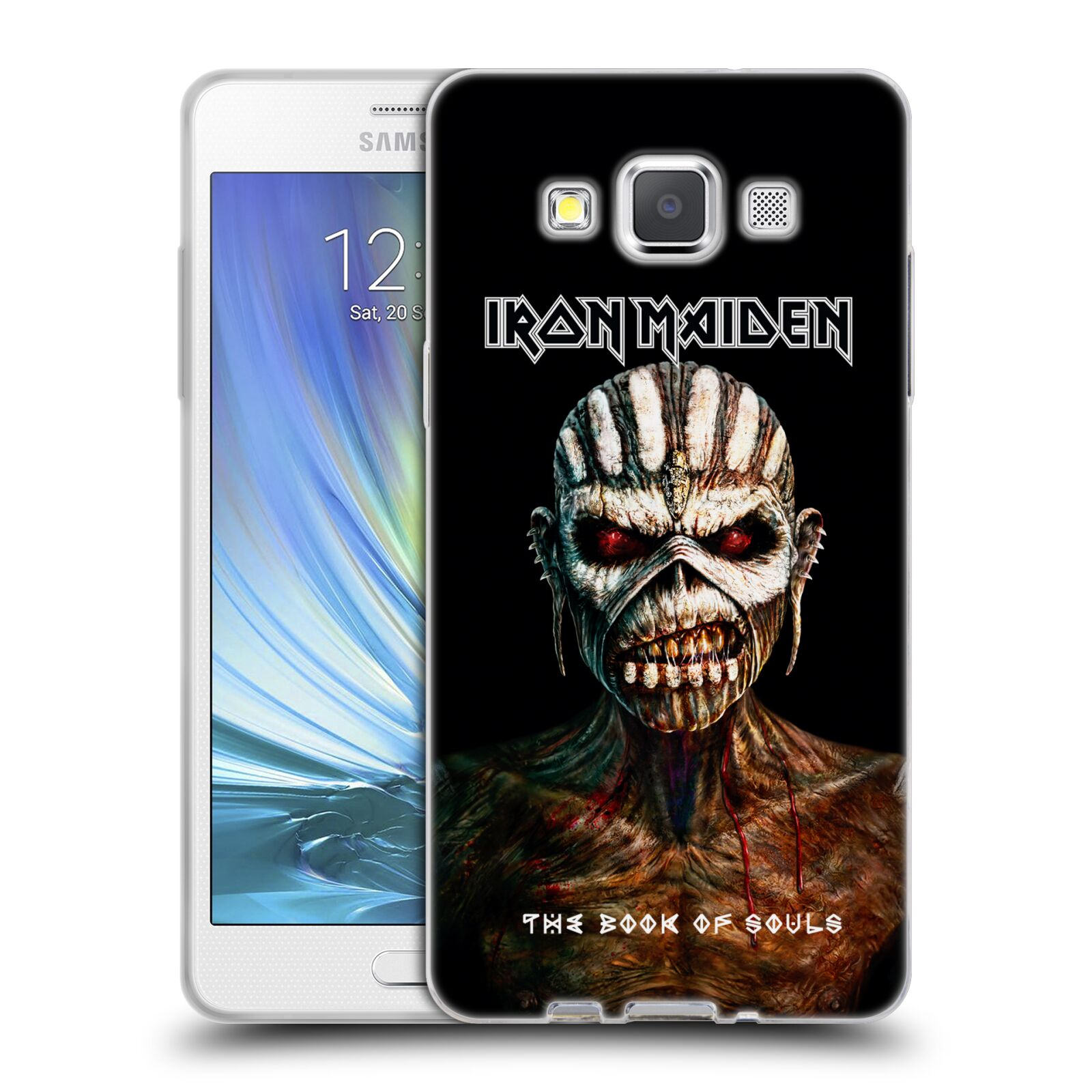 HEAD CASE silikonový obal na mobil Samsung Galaxy A5 (A500) Heavymetalová skupina Iron Maiden The Book Of Souls