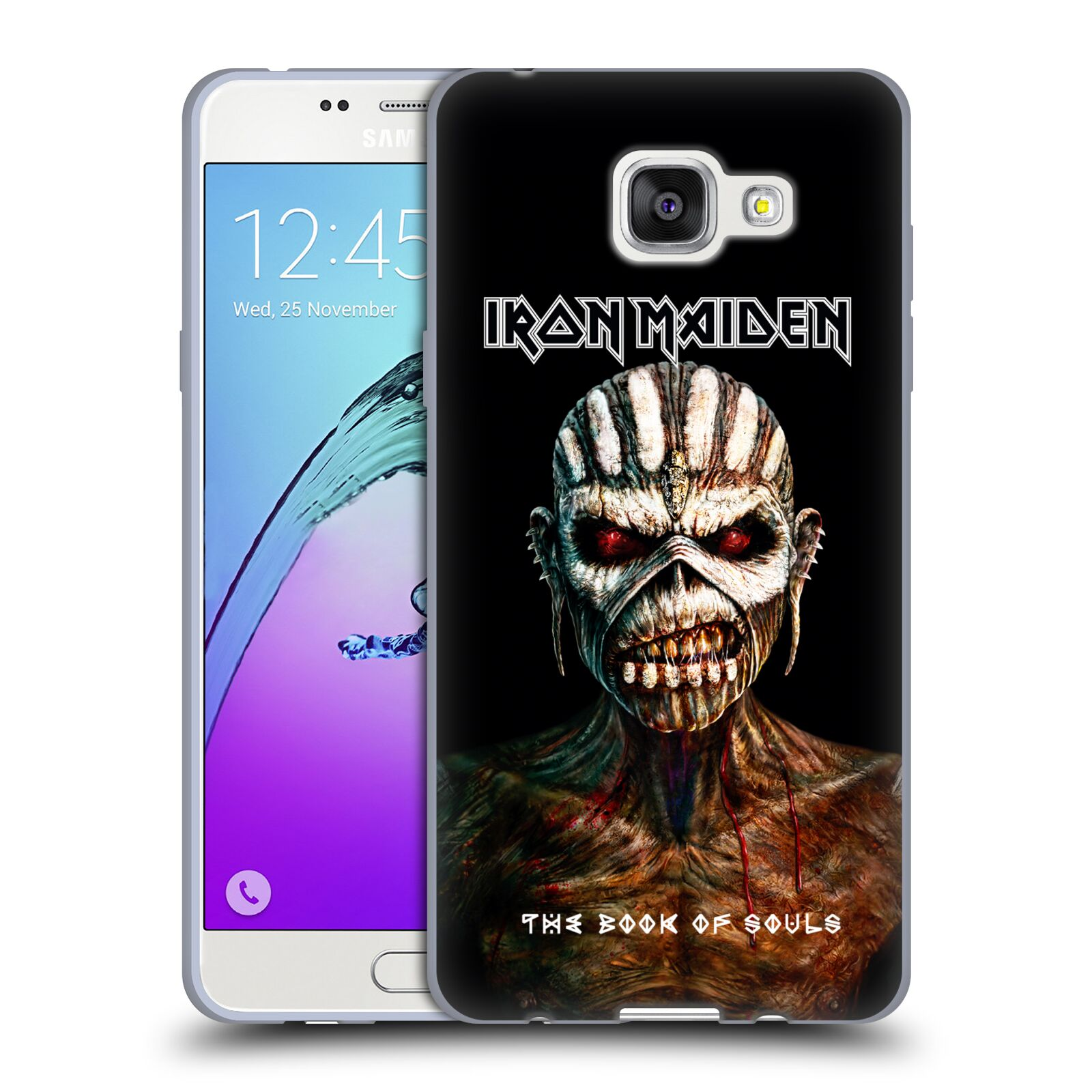 HEAD CASE silikonový obal na mobil Samsung Galaxy A5 2016 (A510) Heavymetalová skupina Iron Maiden The Book Of Souls