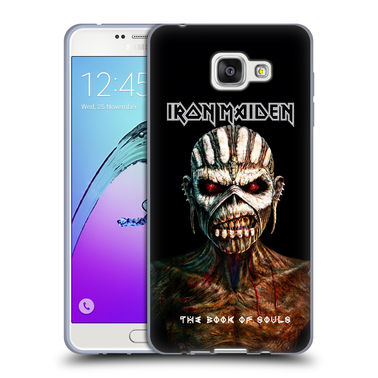 HEAD CASE silikonový obal na mobil Samsung Galaxy A7 2016 (A710) Heavymetalová skupina Iron Maiden The Book Of Souls