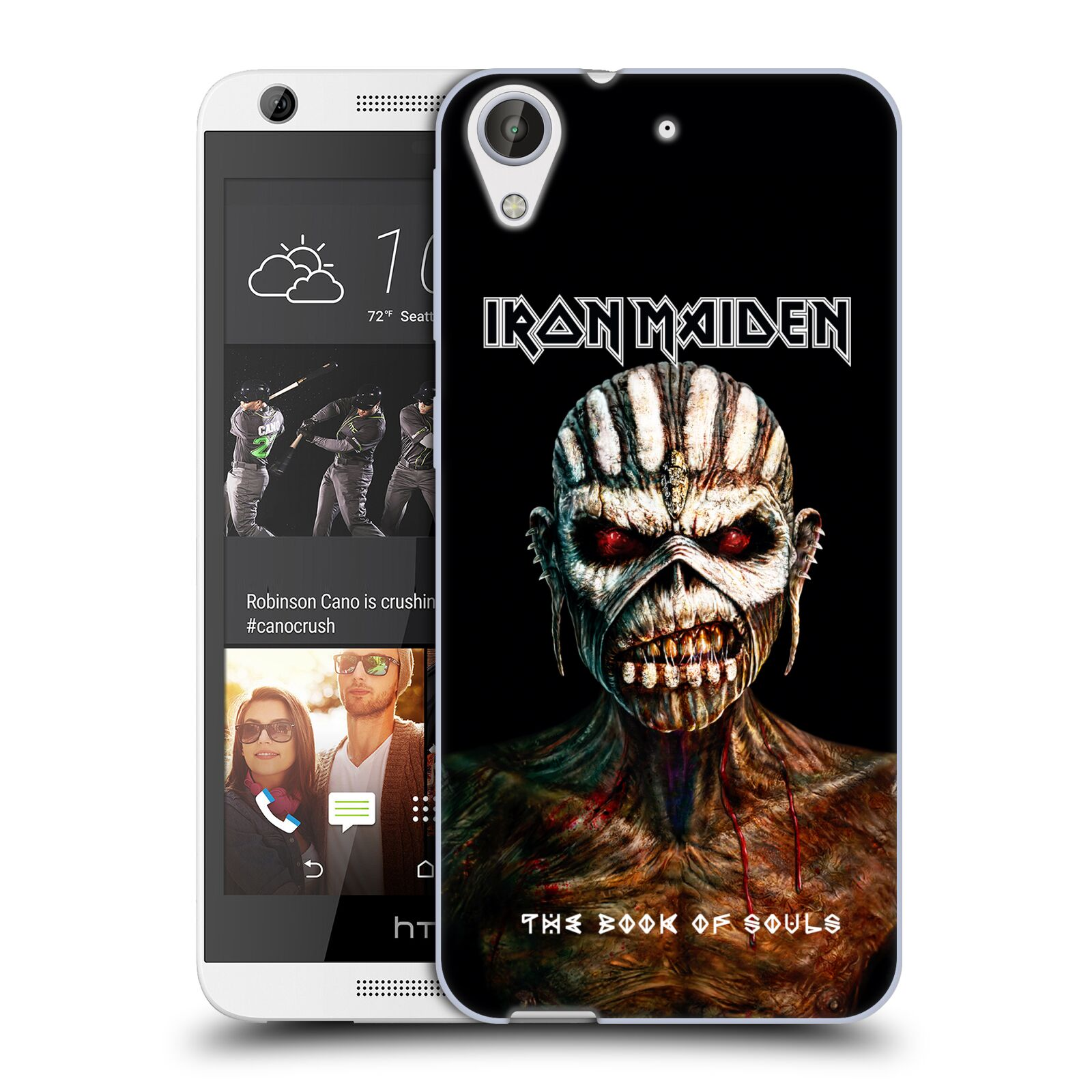 HEAD CASE silikonový obal na mobil HTC Desire 626 Heavymetalová skupina Iron Maiden The Book Of Souls