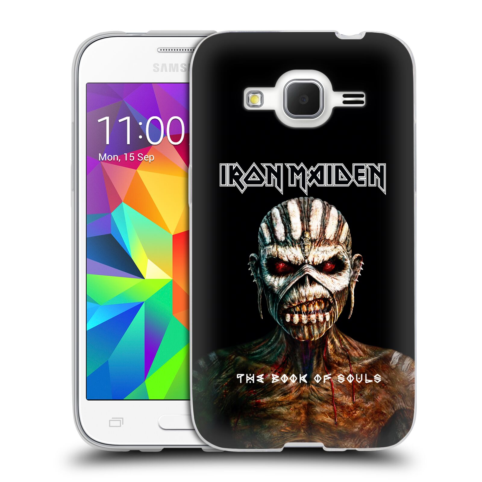 HEAD CASE silikonový obal na mobil Samsung Galaxy Core Prime (G360) Heavymetalová skupina Iron Maiden The Book Of Souls