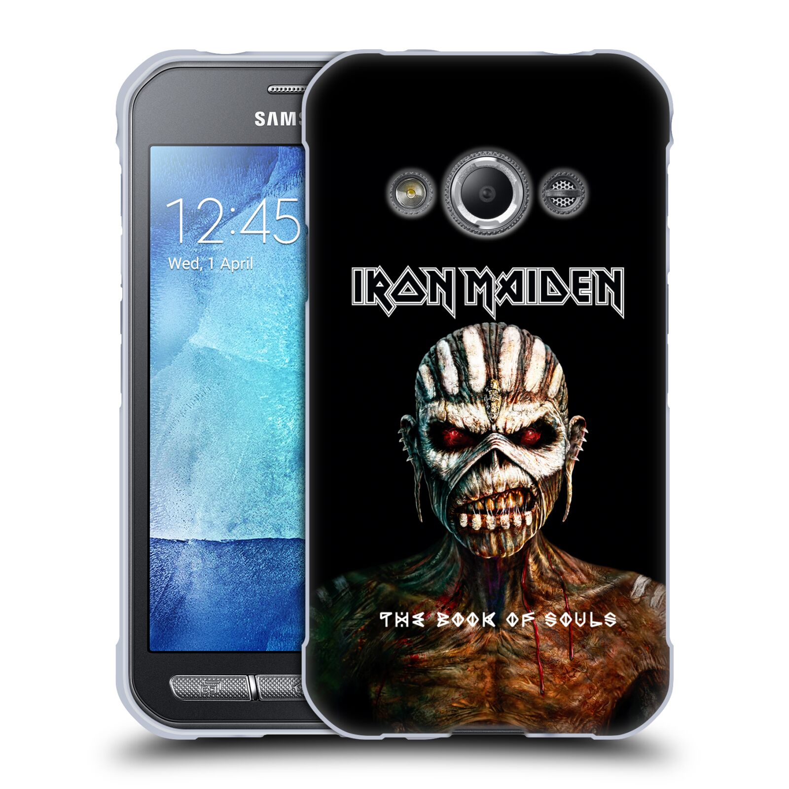 HEAD CASE silikonový obal na mobil Samsung Galaxy Xcover 3 Heavymetalová skupina Iron Maiden The Book Of Souls
