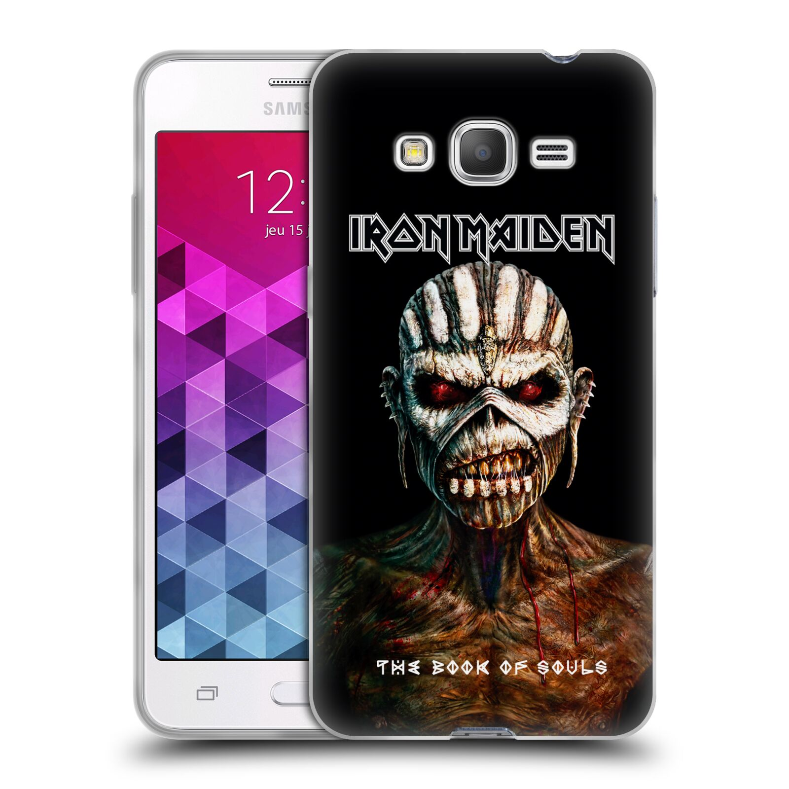 HEAD CASE silikonový obal na mobil Samsung Galaxy Grand Prime Heavymetalová skupina Iron Maiden The Book Of Souls