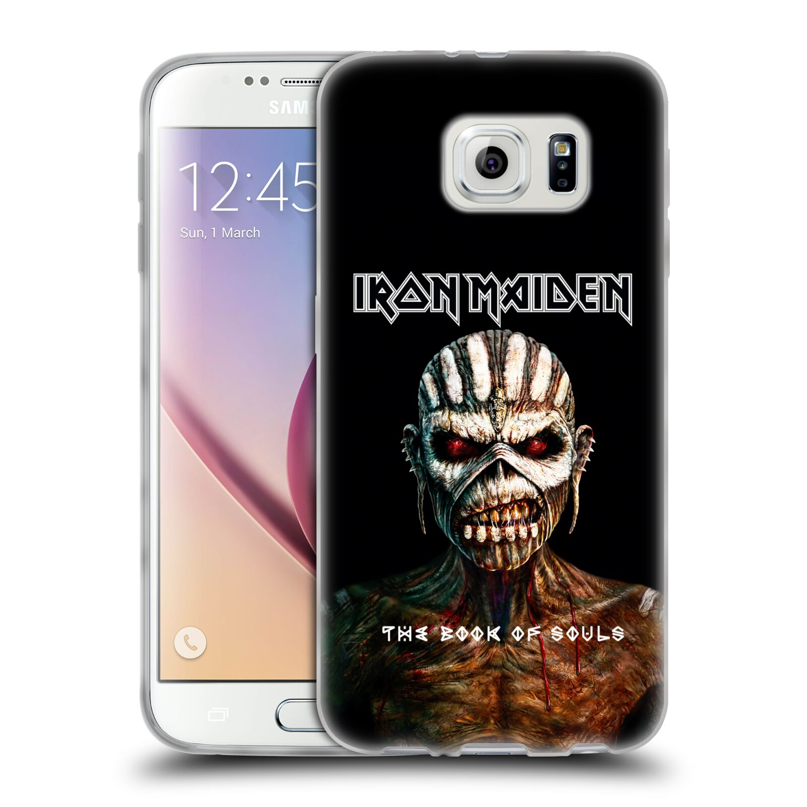 HEAD CASE silikonový obal na mobil Samsung Galaxy S6 Heavymetalová skupina Iron Maiden The Book Of Souls