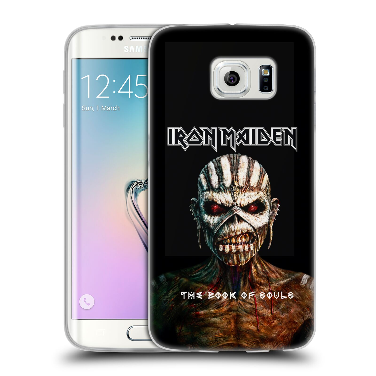 HEAD CASE silikonový obal na mobil Samsung Galaxy S6 EDGE Heavymetalová skupina Iron Maiden The Book Of Souls