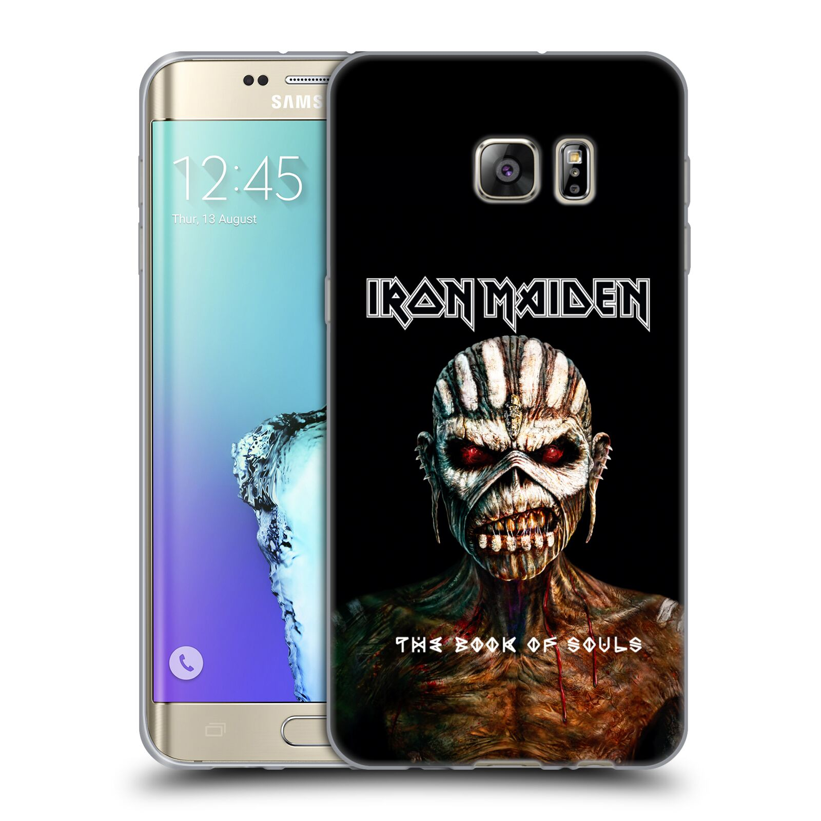 HEAD CASE silikonový obal na mobil Samsung Galaxy S6 EDGE PLUS Heavymetalová skupina Iron Maiden The Book Of Souls
