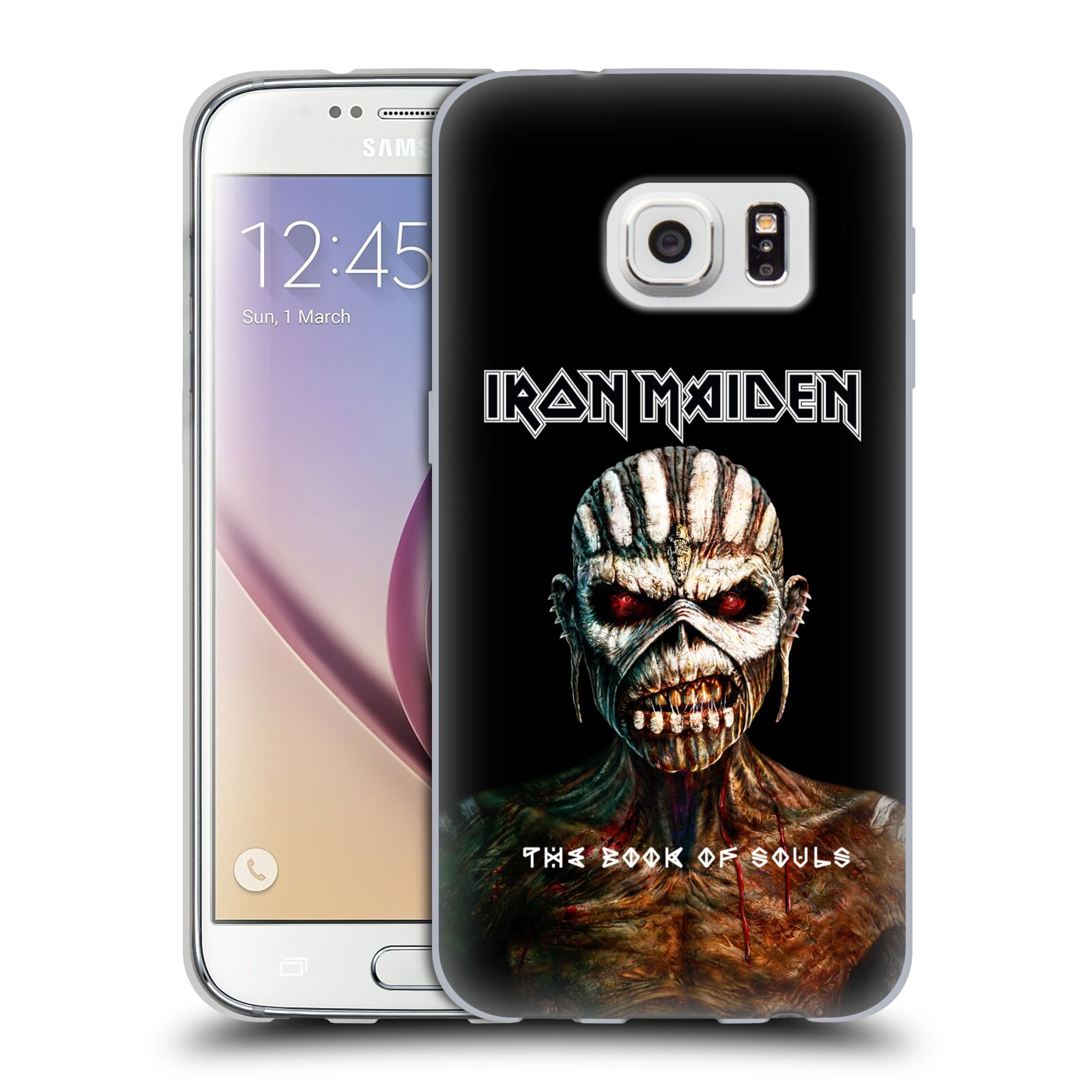 HEAD CASE silikonový obal na mobil Samsung Galaxy S7 Heavymetalová skupina Iron Maiden The Book Of Souls