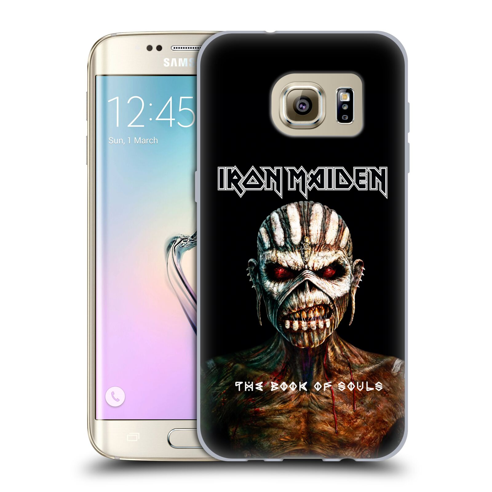 HEAD CASE silikonový obal na mobil Samsung Galaxy S7 EDGE Heavymetalová skupina Iron Maiden The Book Of Souls