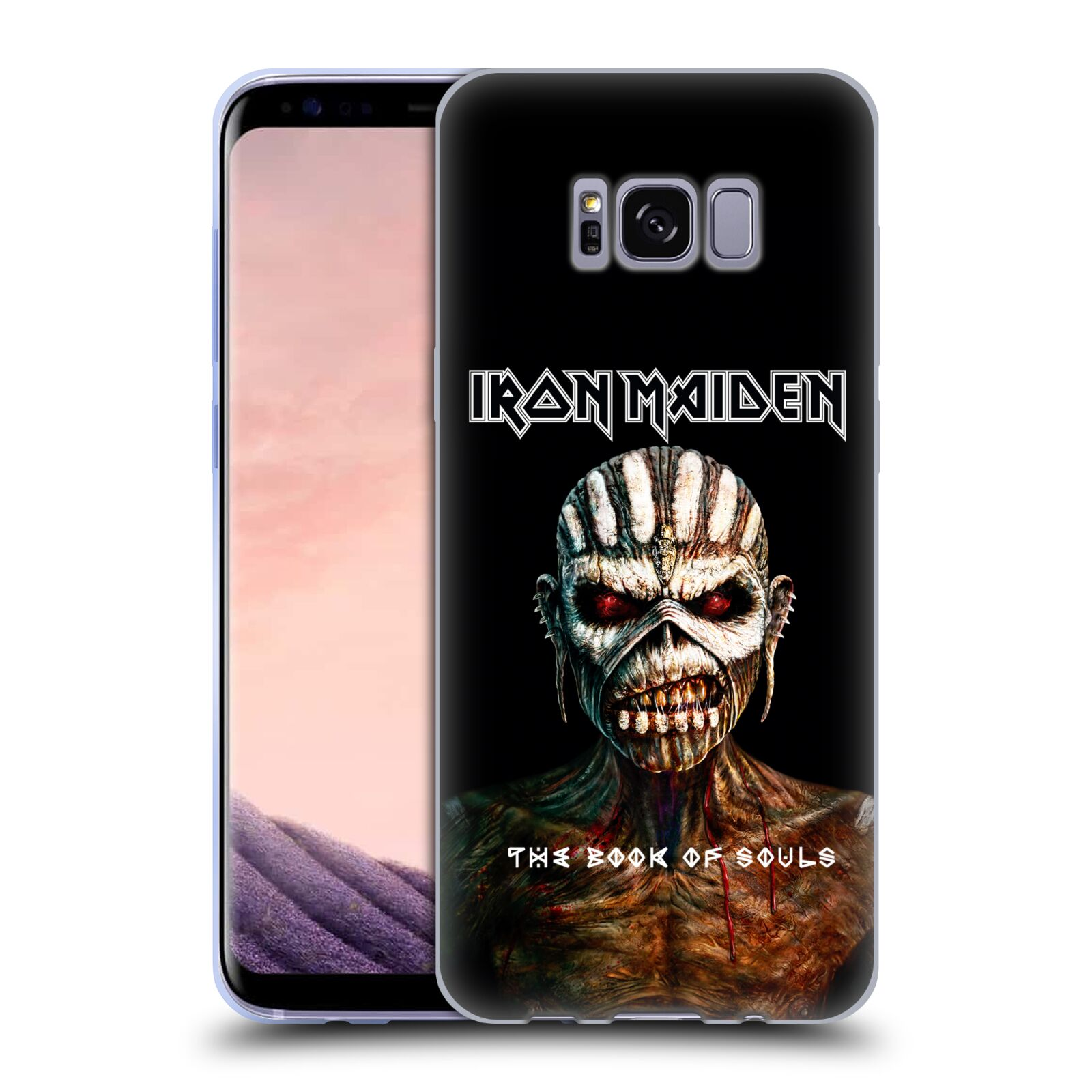 HEAD CASE silikonový obal na mobil Samsung Galaxy S8 Heavymetalová skupina Iron Maiden The Book Of Souls
