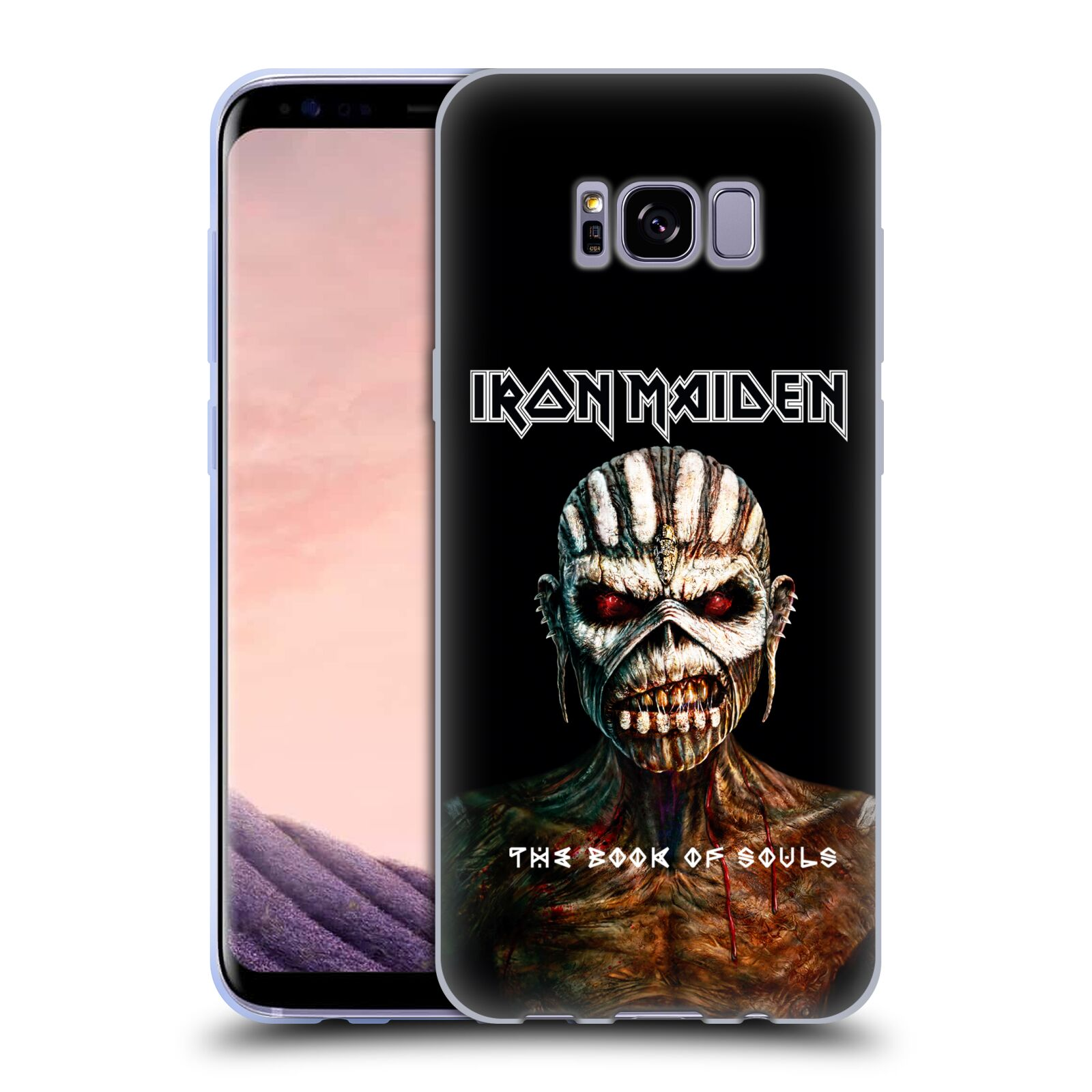 HEAD CASE silikonový obal na mobil Samsung Galaxy S8 PLUS Heavymetalová skupina Iron Maiden The Book Of Souls