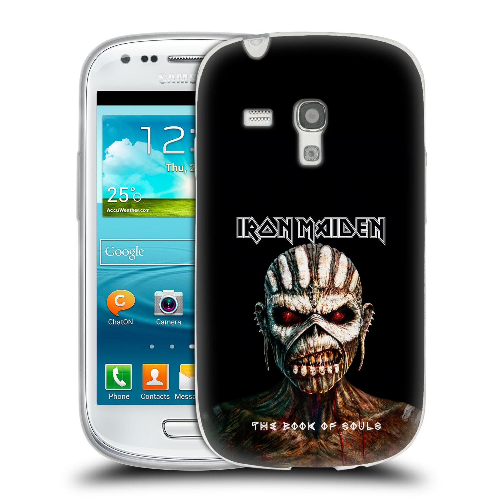 HEAD CASE silikonový obal na mobil Samsung Galaxy S3 MINI Heavymetalová skupina Iron Maiden The Book Of Souls