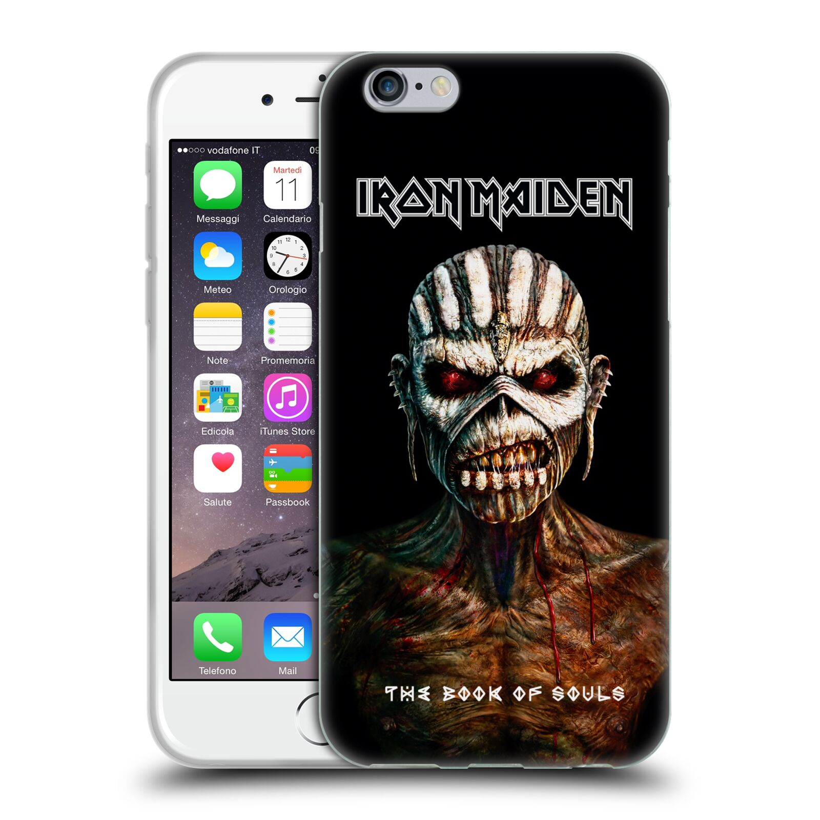 HEAD CASE silikonový obal na mobil Apple Iphone 6/6S Heavymetalová skupina Iron Maiden The Book Of Souls