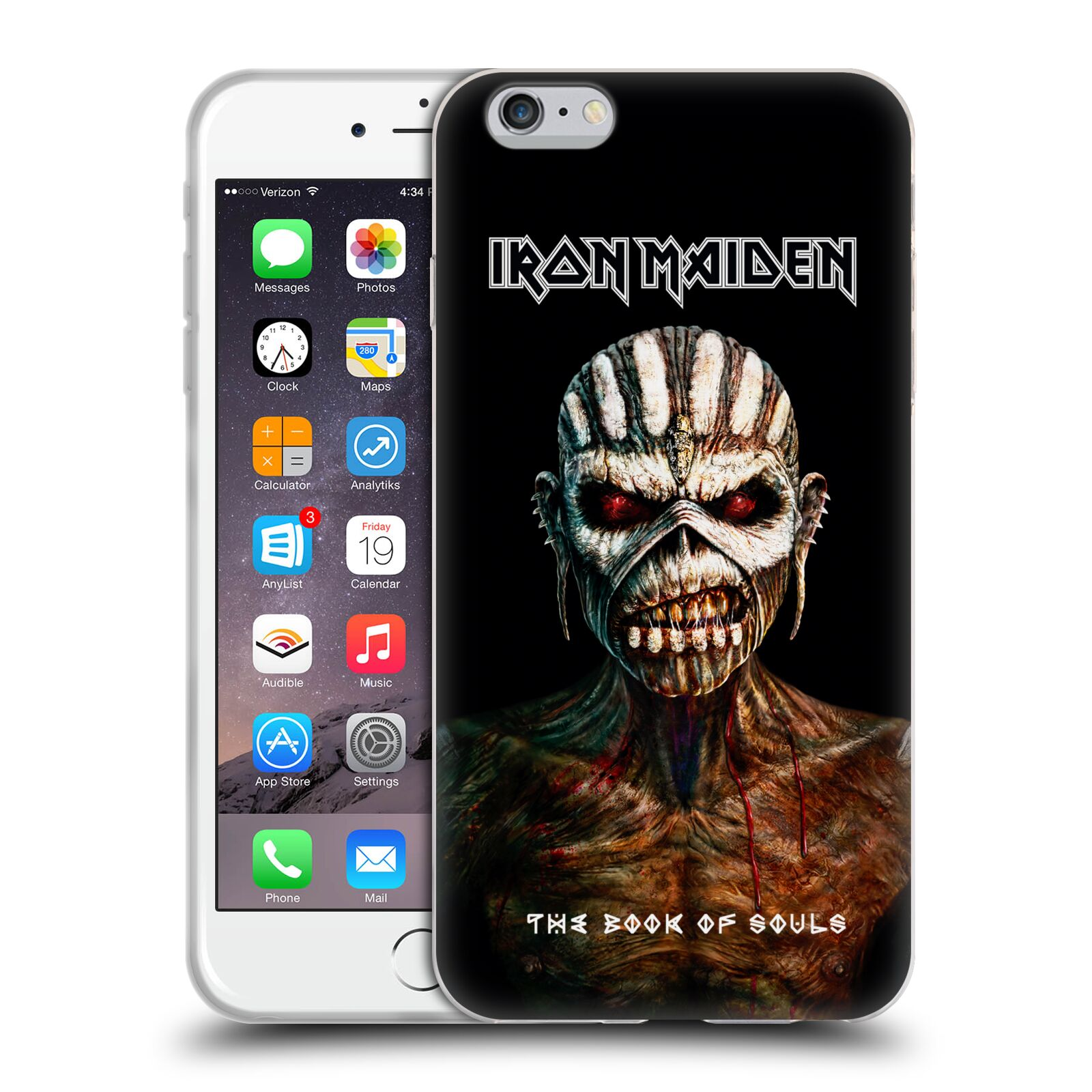 HEAD CASE silikonový obal na mobil Apple Iphone 6/6S PLUS Heavymetalová skupina Iron Maiden The Book Of Souls