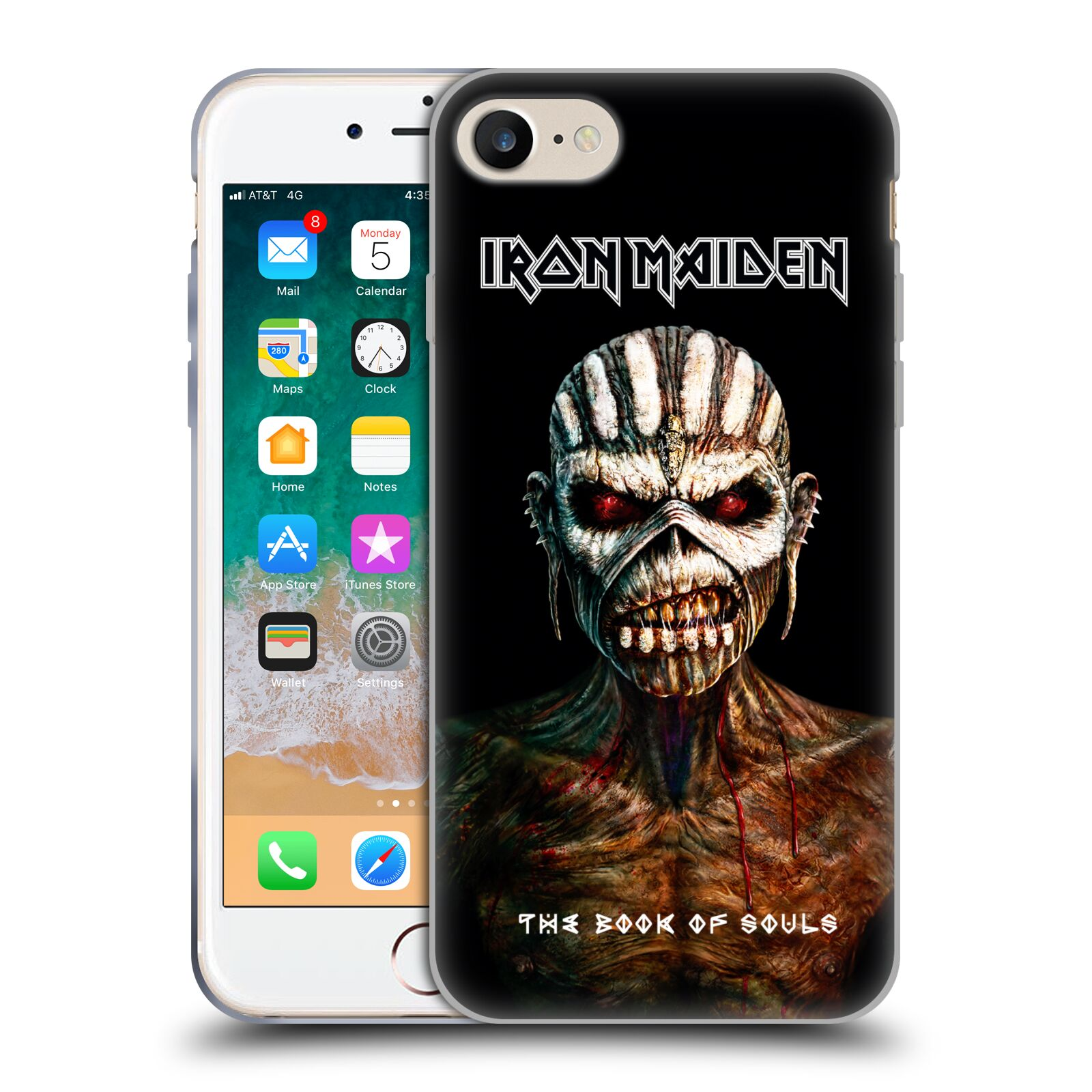 HEAD CASE silikonový obal na mobil Apple Iphone 7 Heavymetalová skupina Iron Maiden The Book Of Souls