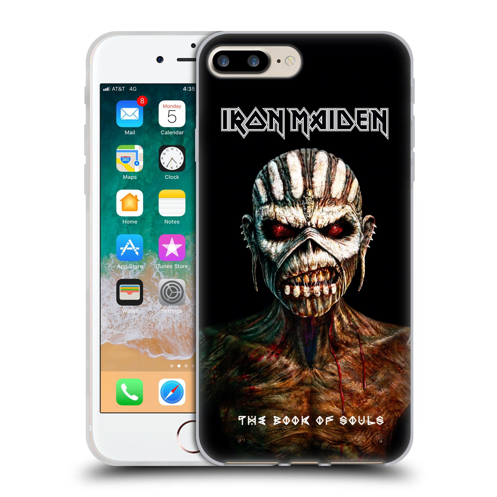 HEAD CASE silikonový obal na mobil Apple Iphone 7 PLUS Heavymetalová skupina Iron Maiden The Book Of Souls