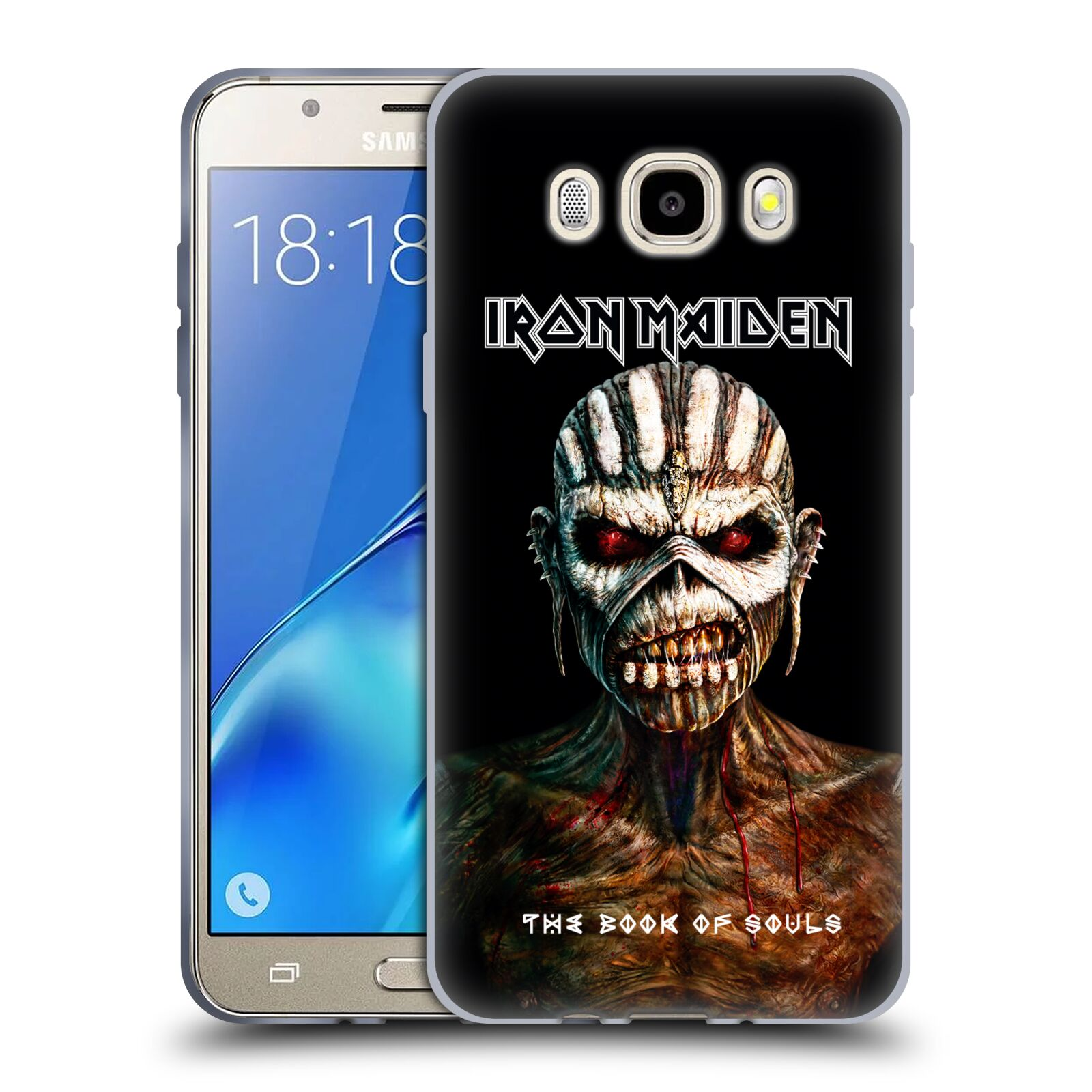 HEAD CASE silikonový obal na mobil Samsung Galaxy J5 2016 (J510) Heavymetalová skupina Iron Maiden The Book Of Souls