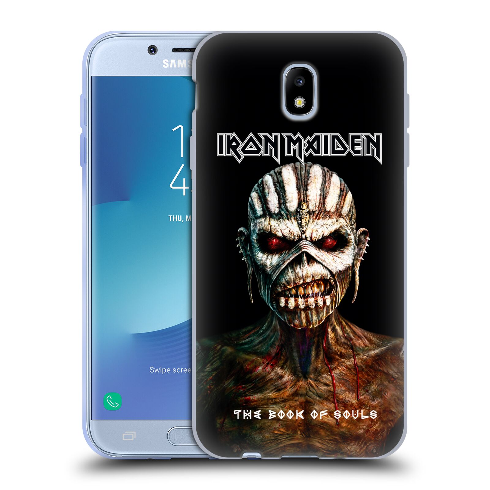 HEAD CASE silikonový obal na mobil Samsung Galaxy J7 2017 Heavymetalová skupina Iron Maiden The Book Of Souls