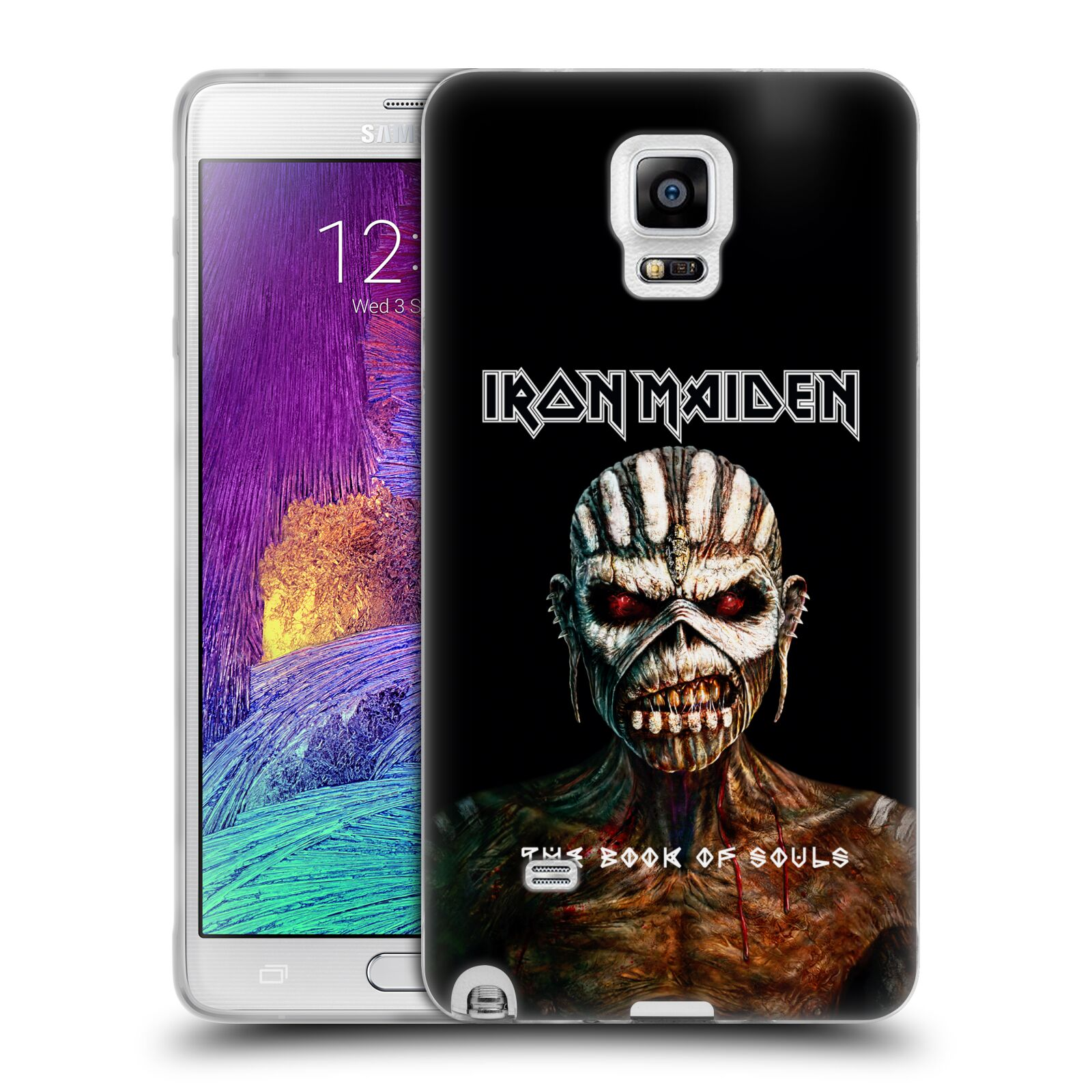 HEAD CASE silikonový obal na mobil Samsung Galaxy Note 4 Heavymetalová skupina Iron Maiden The Book Of Souls