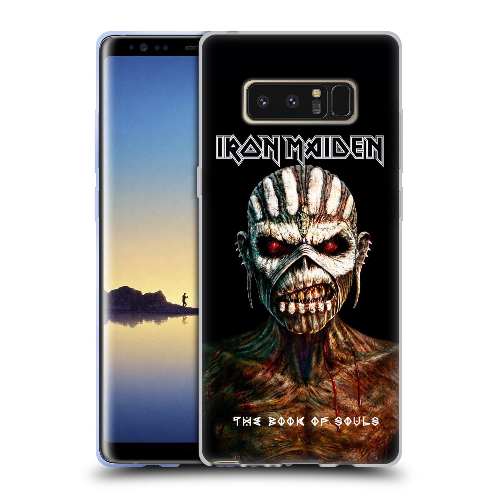 HEAD CASE silikonový obal na mobil Samsung Galaxy Note 8 Heavymetalová skupina Iron Maiden The Book Of Souls