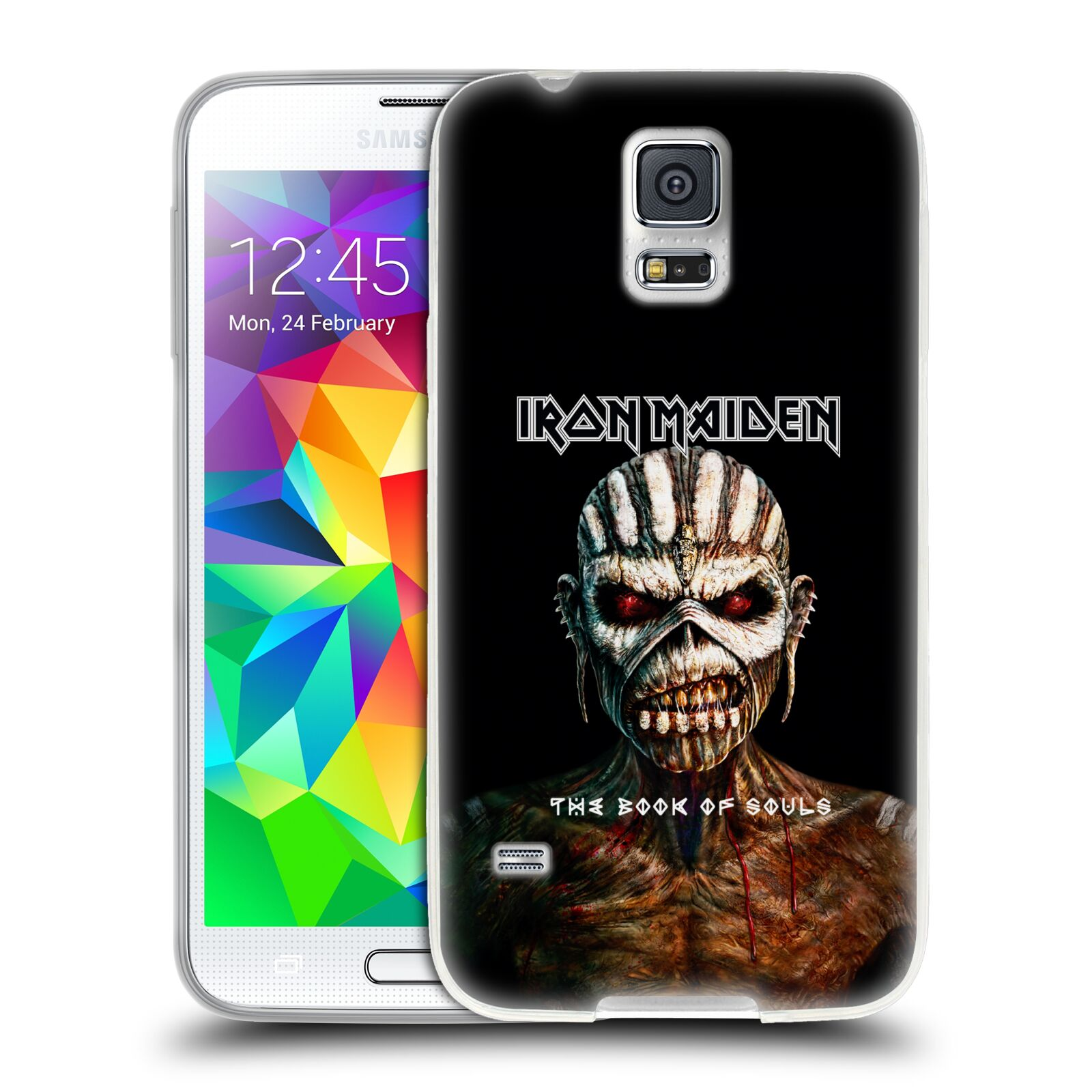 HEAD CASE silikonový obal na mobil Samsung Galaxy S5 Heavymetalová skupina Iron Maiden The Book Of Souls