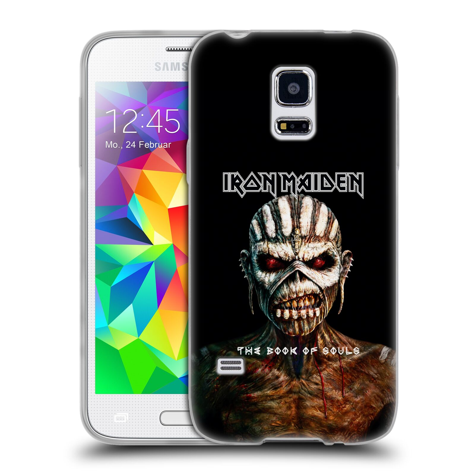 HEAD CASE silikonový obal na mobil Samsung Galaxy S5 MINI Heavymetalová skupina Iron Maiden The Book Of Souls